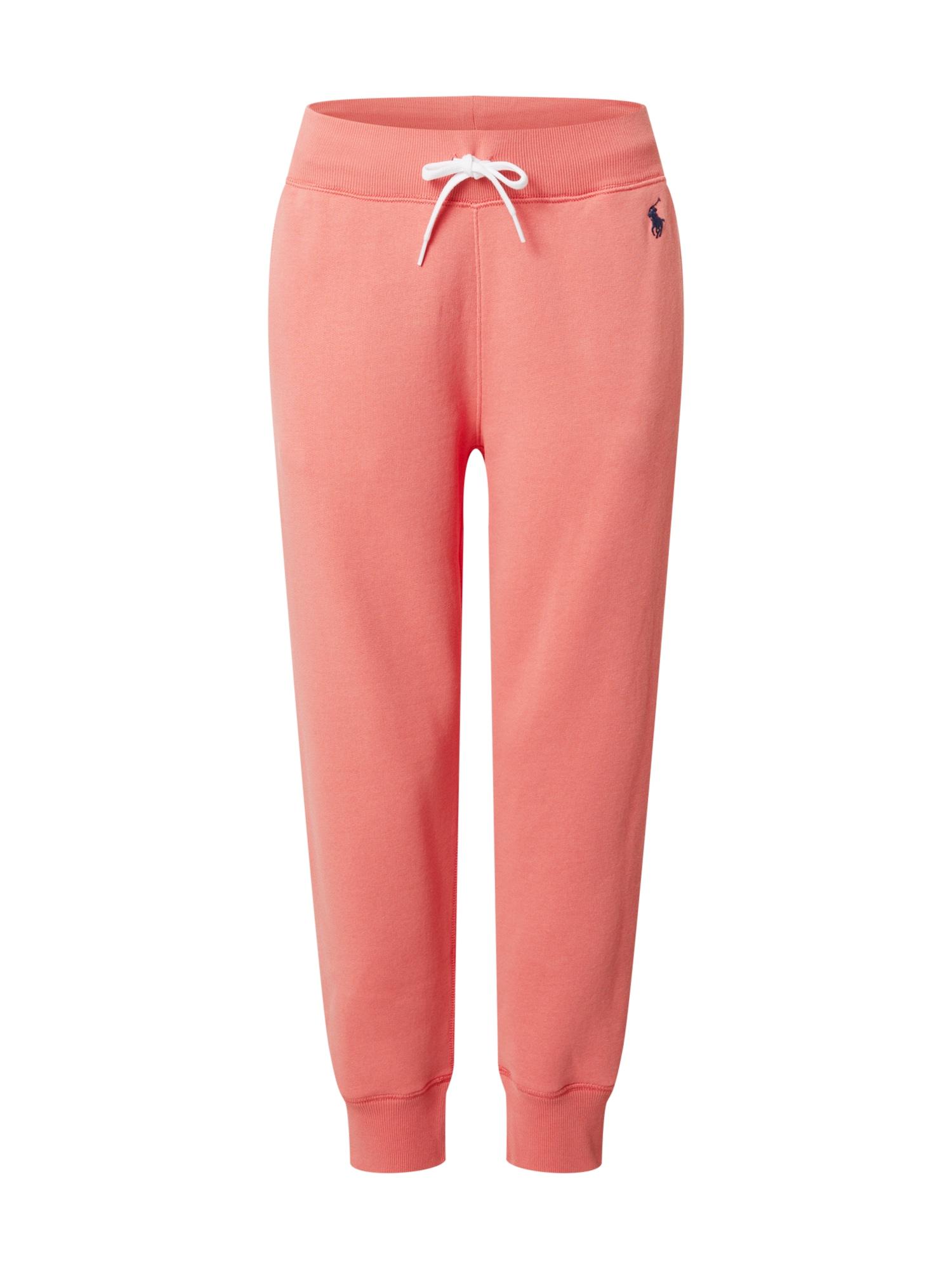 POLO RALPH LAUREN Kalhoty  pastelově červená