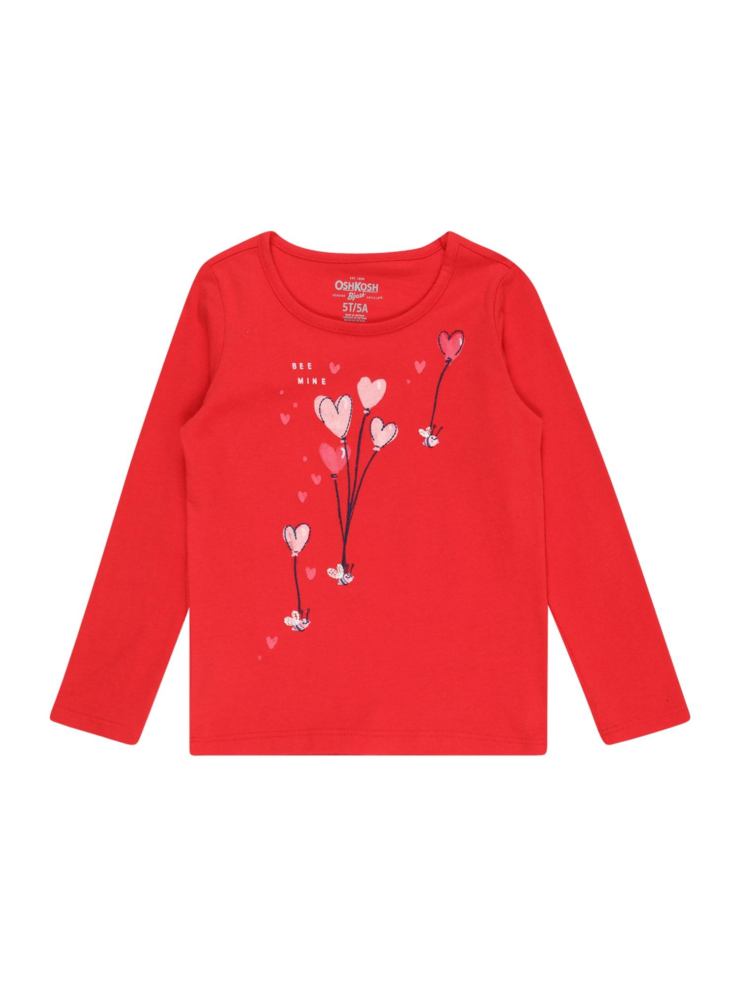 OshKosh Marškinėliai raudona / mėlyna / šviesiai rožinė
