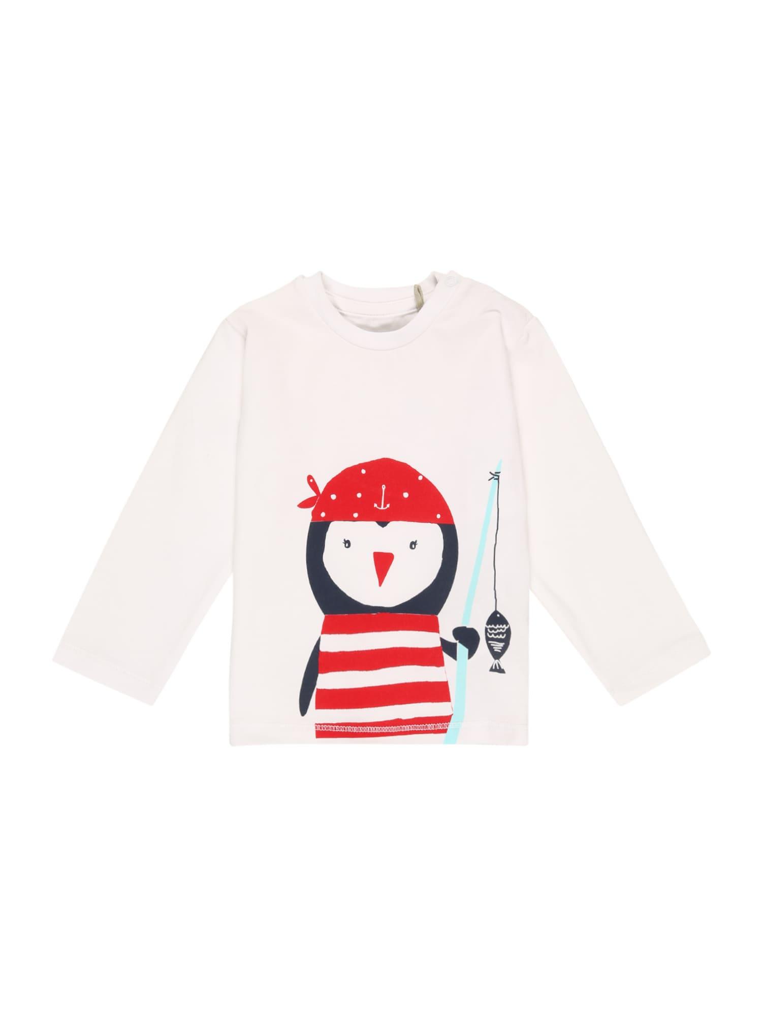 KANZ Marškinėliai balta / raudona / tamsiai mėlyna / turkio spalva
