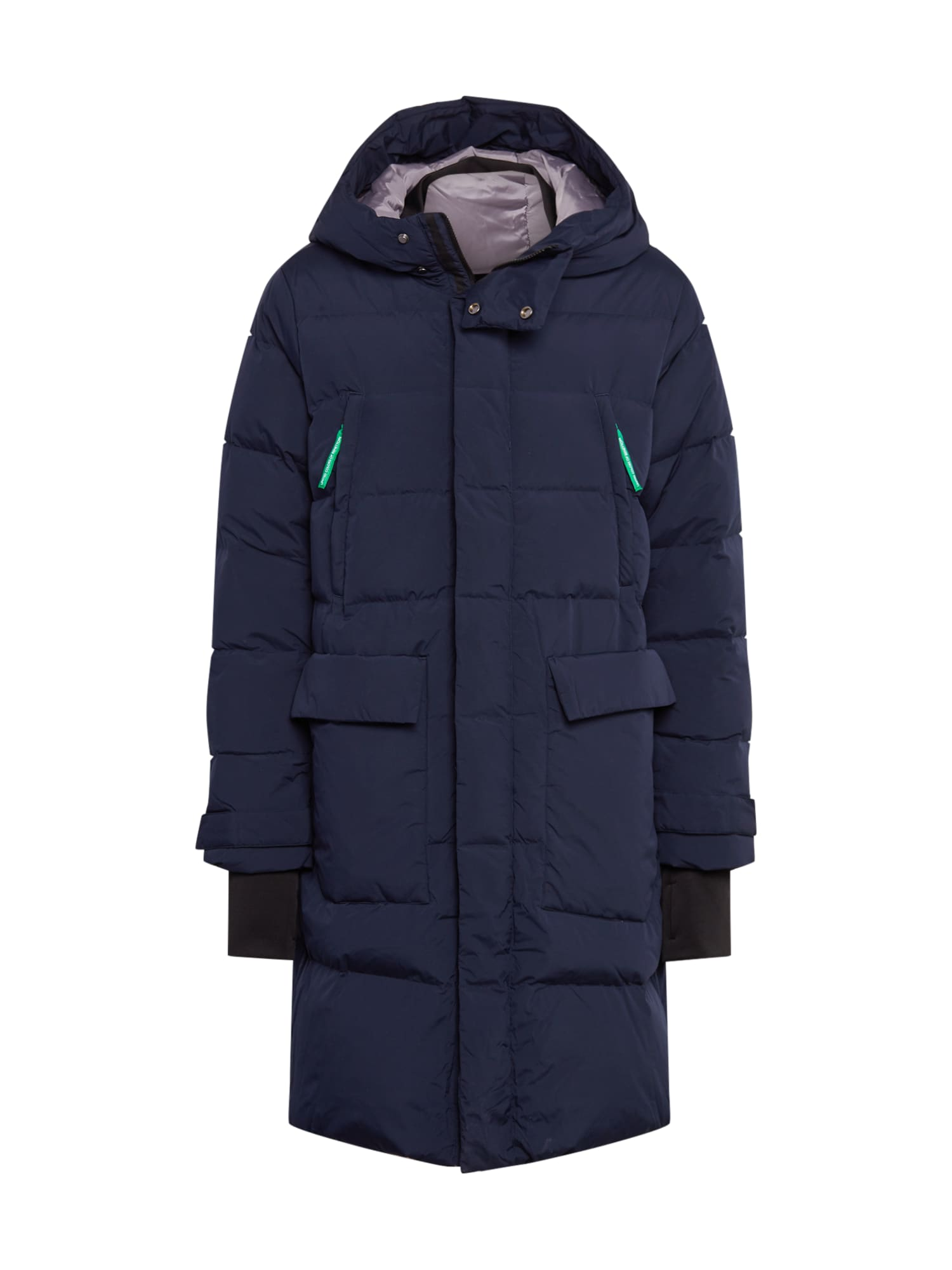 UNITED COLORS OF BENETTON Zimní bunda  tmavě modrá