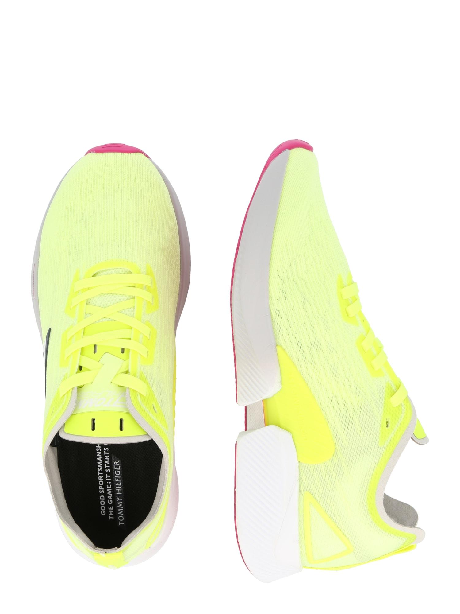 Tommy Sport Chaussure de sport 'ELITE 3'  jaune fluo / bleu marine / rouge / blanc