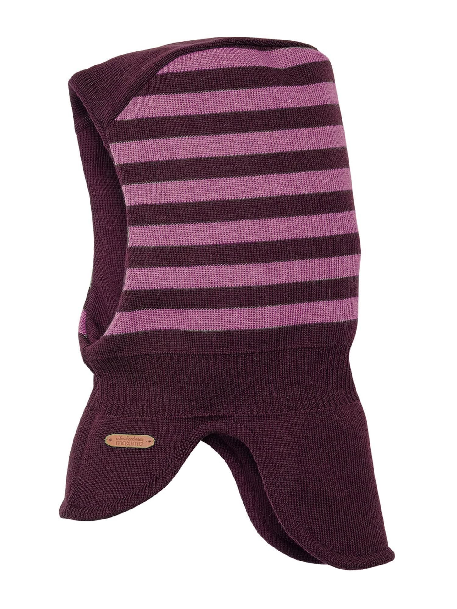 MAXIMO Megzta kepurė ryškiai rožinė spalva / tamsiai violetinė