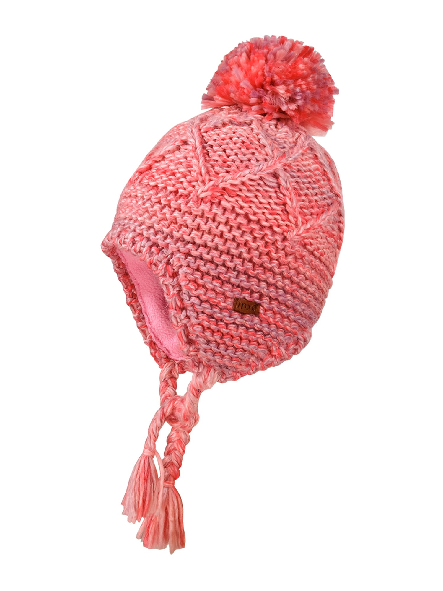 MAXIMO Megzta kepurė šviesiai raudona / šviesiai rožinė