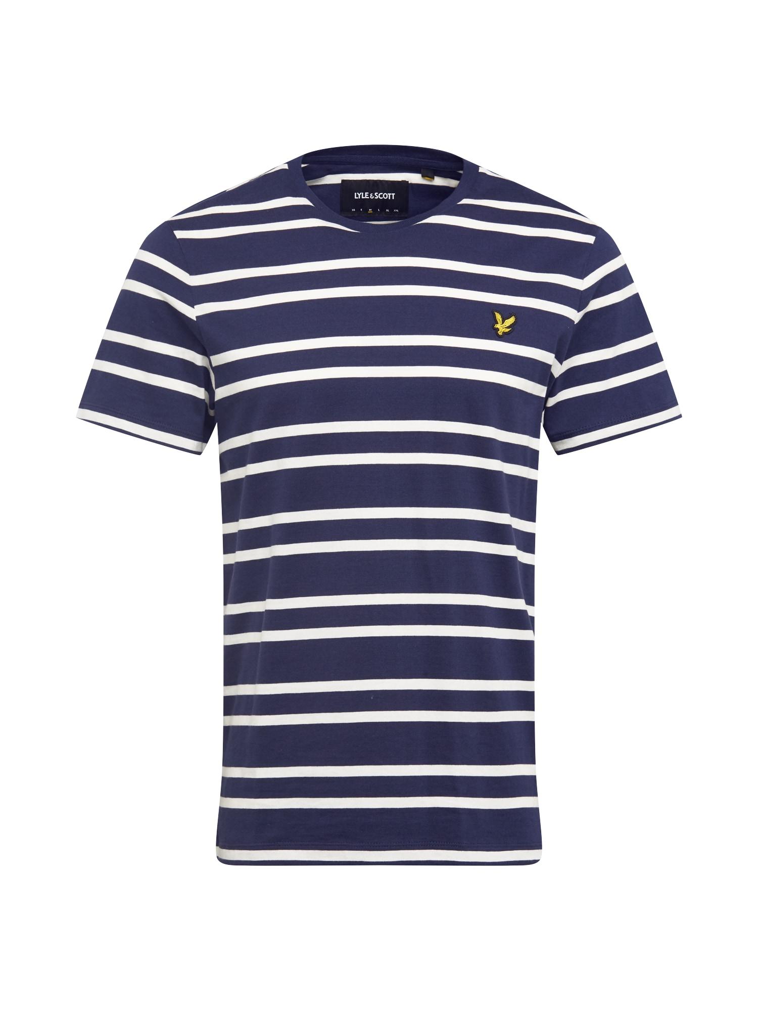 Lyle & Scott Tričko  žlutá / námořnická modř