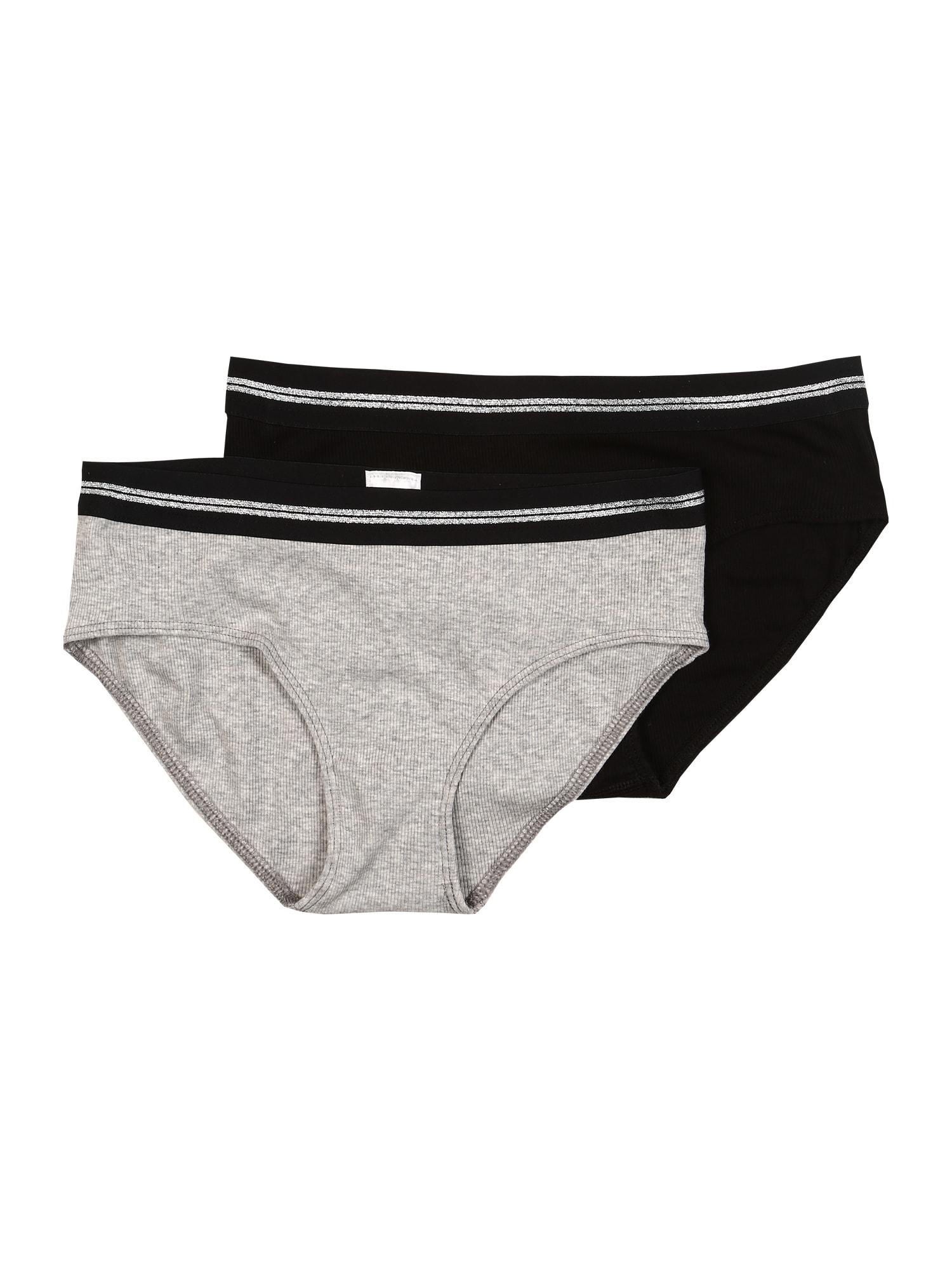 SCHIESSER Spodní prádlo  šedá / černá