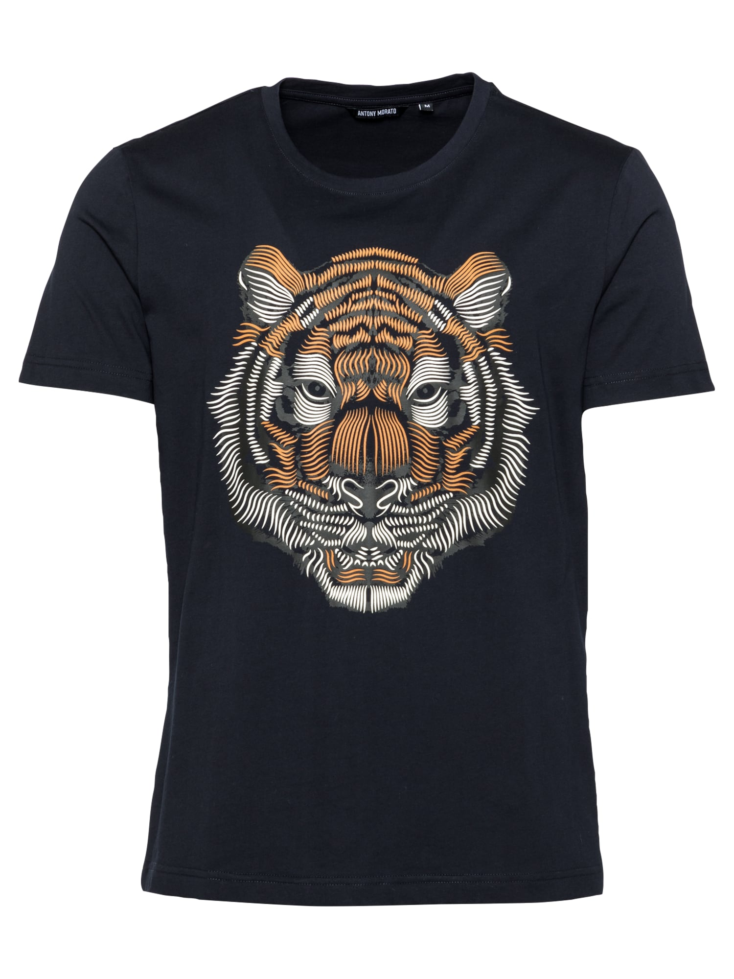 ANTONY MORATO Marškinėliai nakties mėlyna / mandarinų spalva / balta / pilka