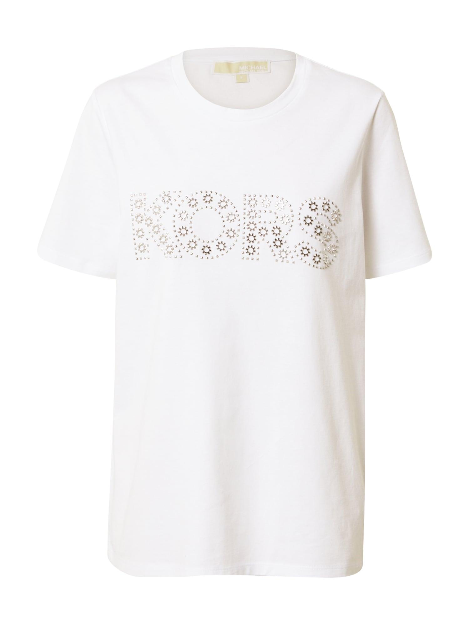 MICHAEL Michael Kors Marškinėliai balkšva / sidabrinė