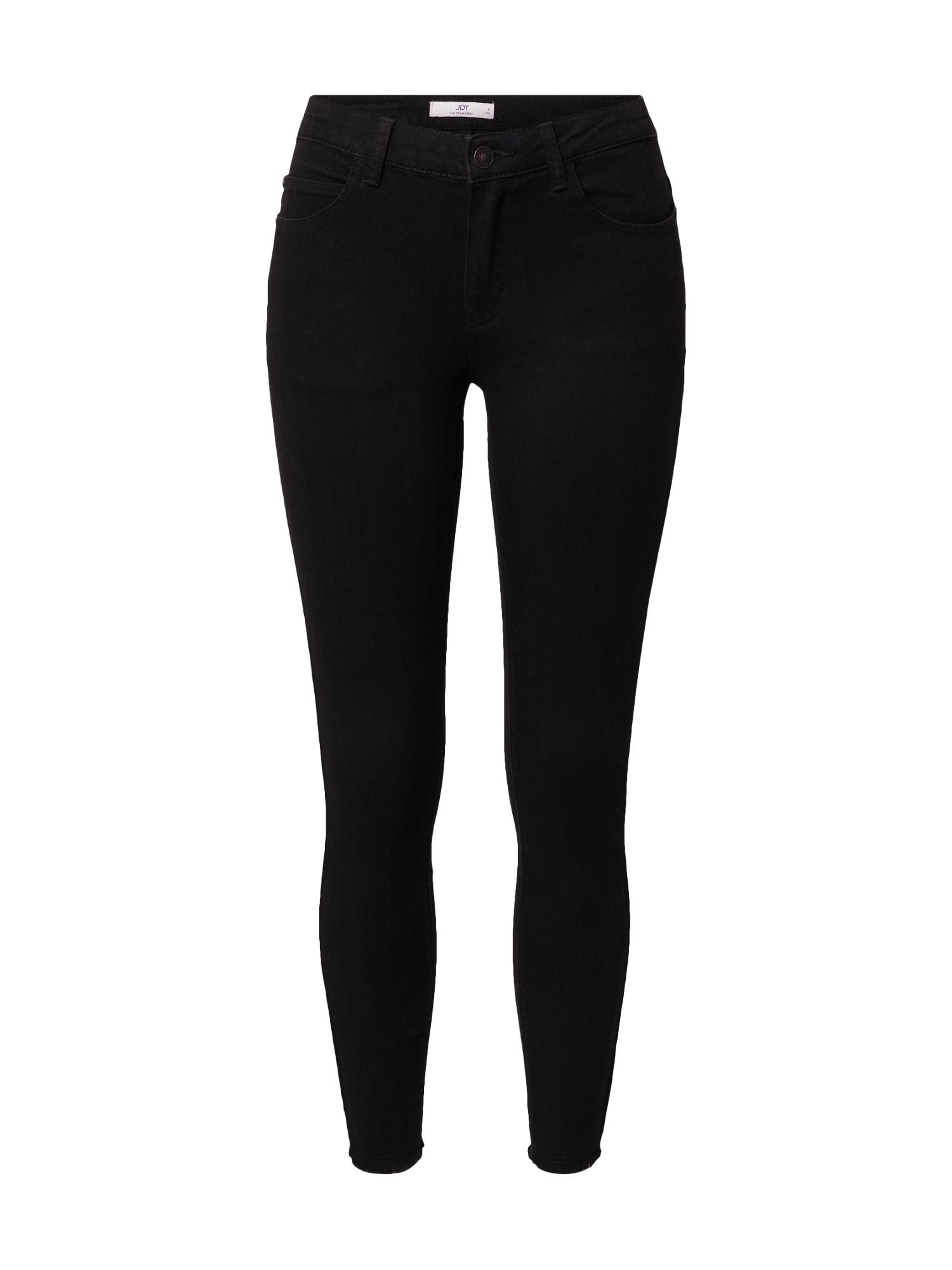 JDY Džinsai juodo džinso spalva / juoda