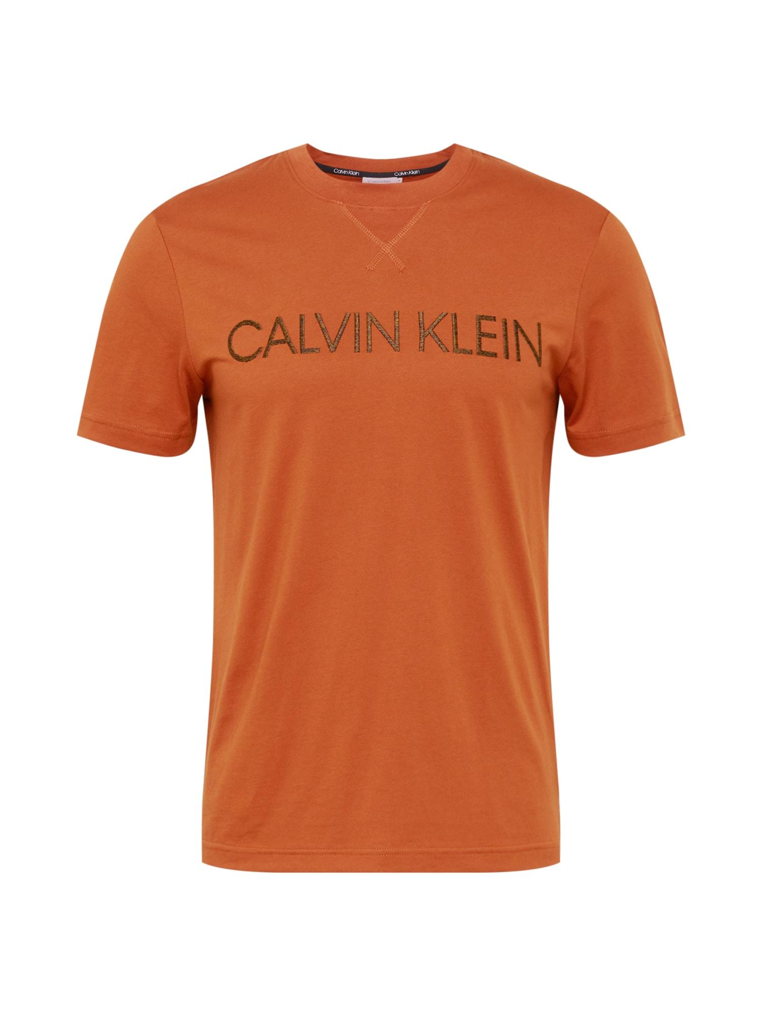 Calvin Klein Marškinėliai oranžinė