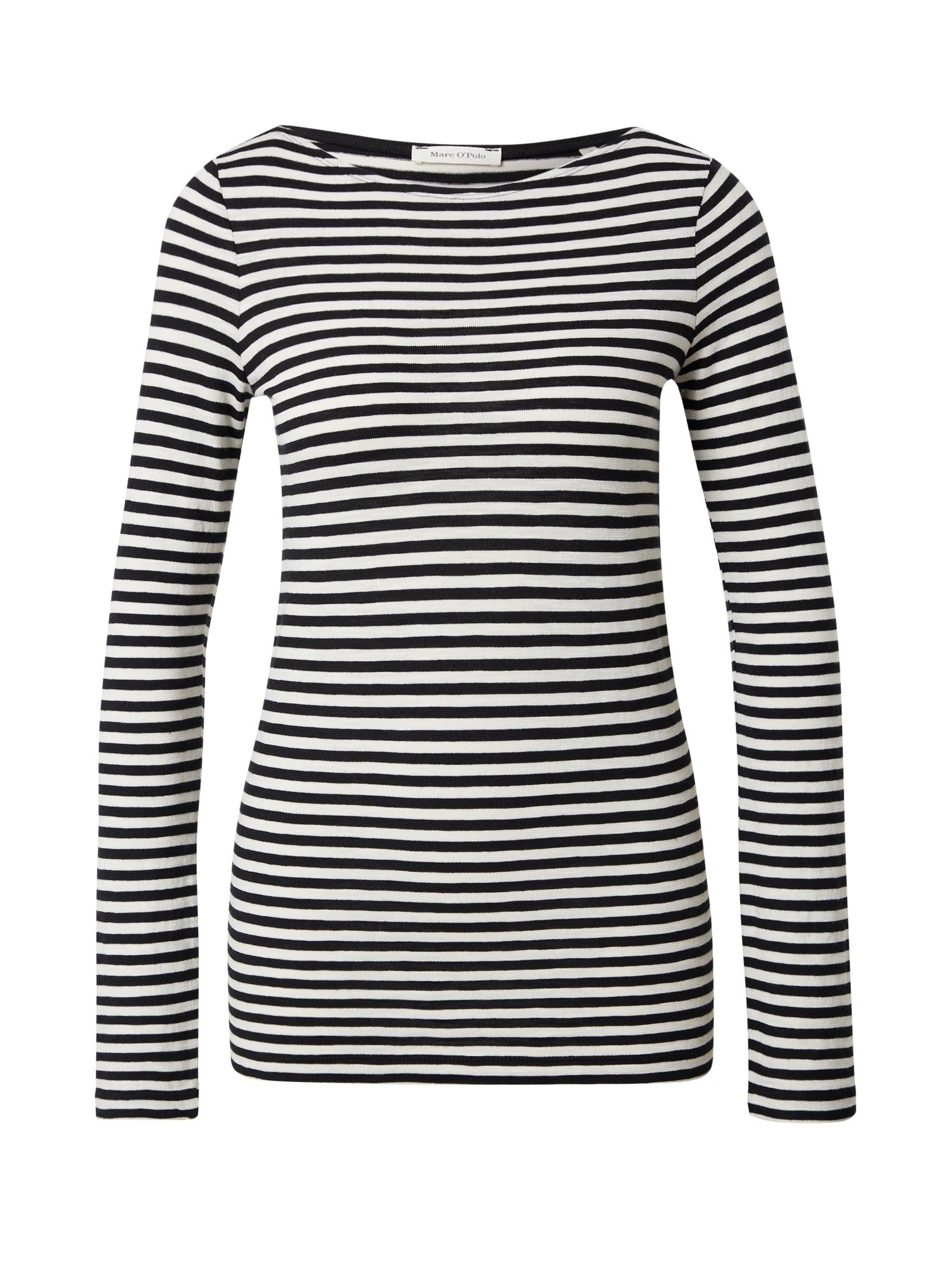 Marc O'Polo Tričko  černá / bílá