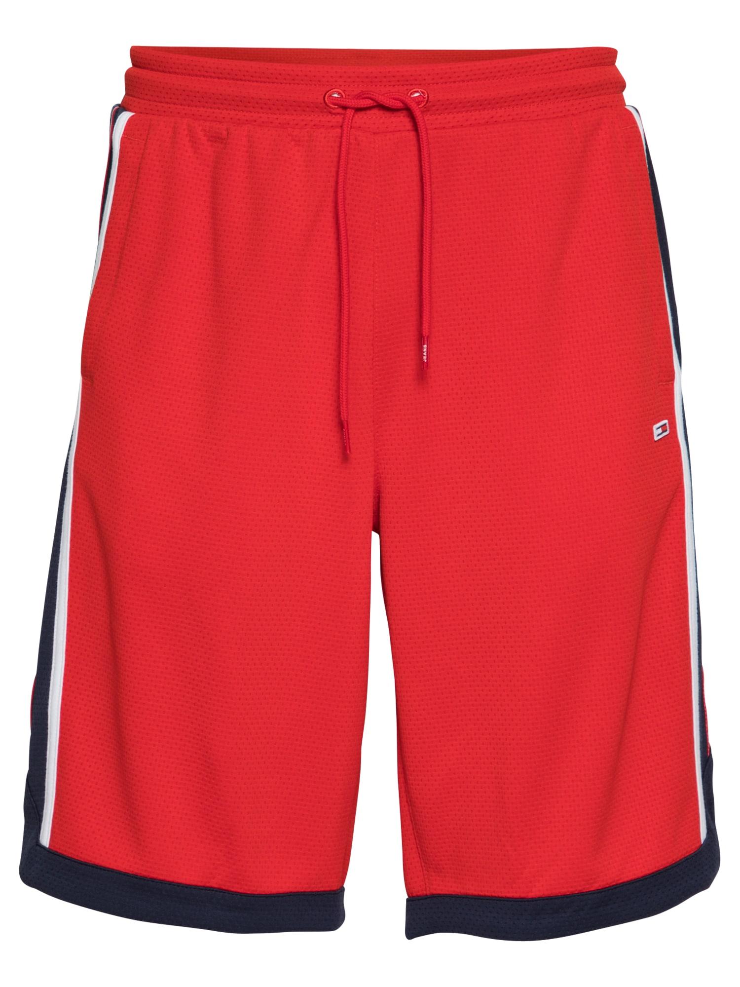 Tommy Jeans Kelnės raudona / tamsiai mėlyna jūros spalva / balta
