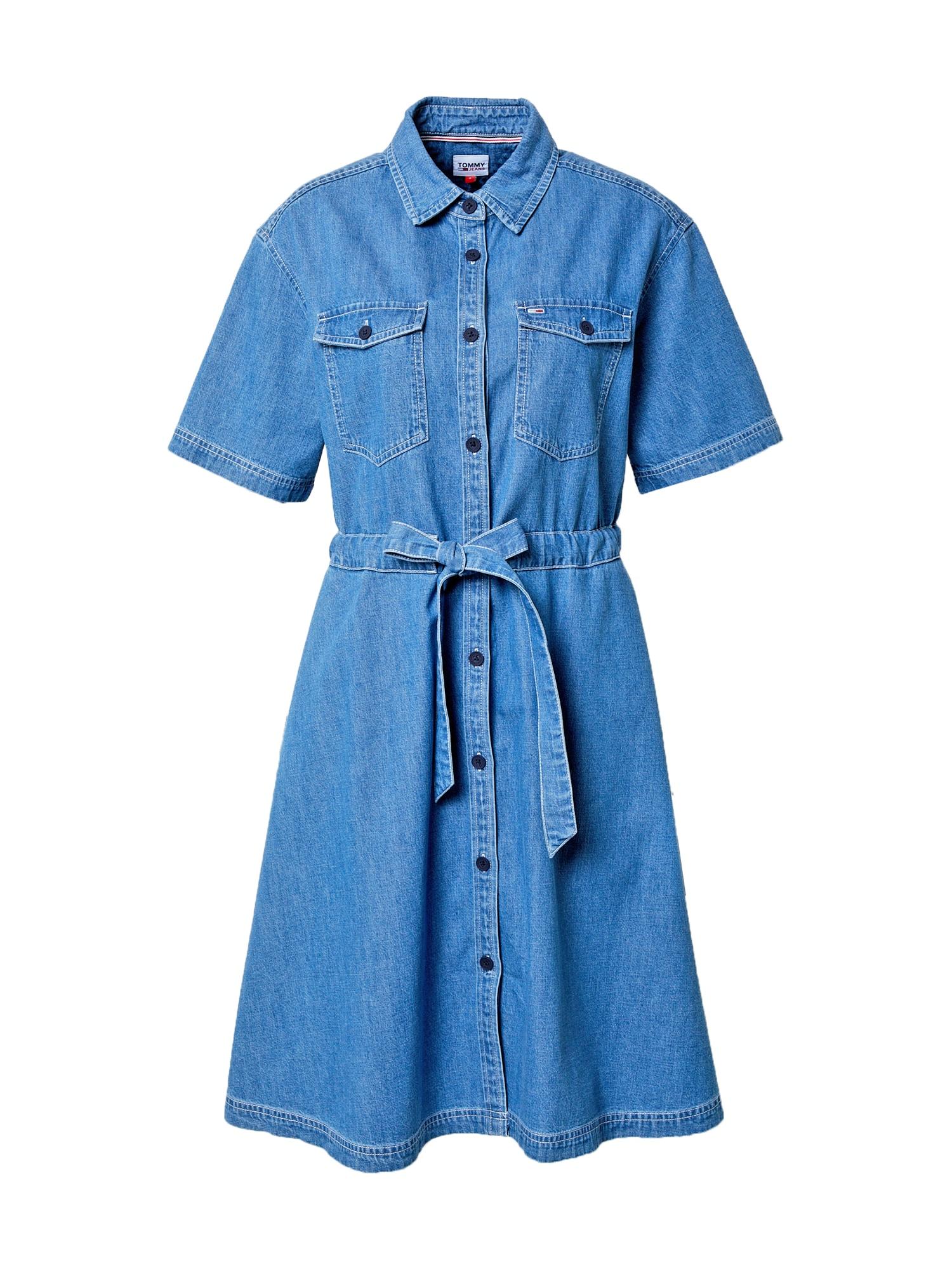 Tommy Jeans Palaidinės tipo suknelė tamsiai (džinso) mėlyna