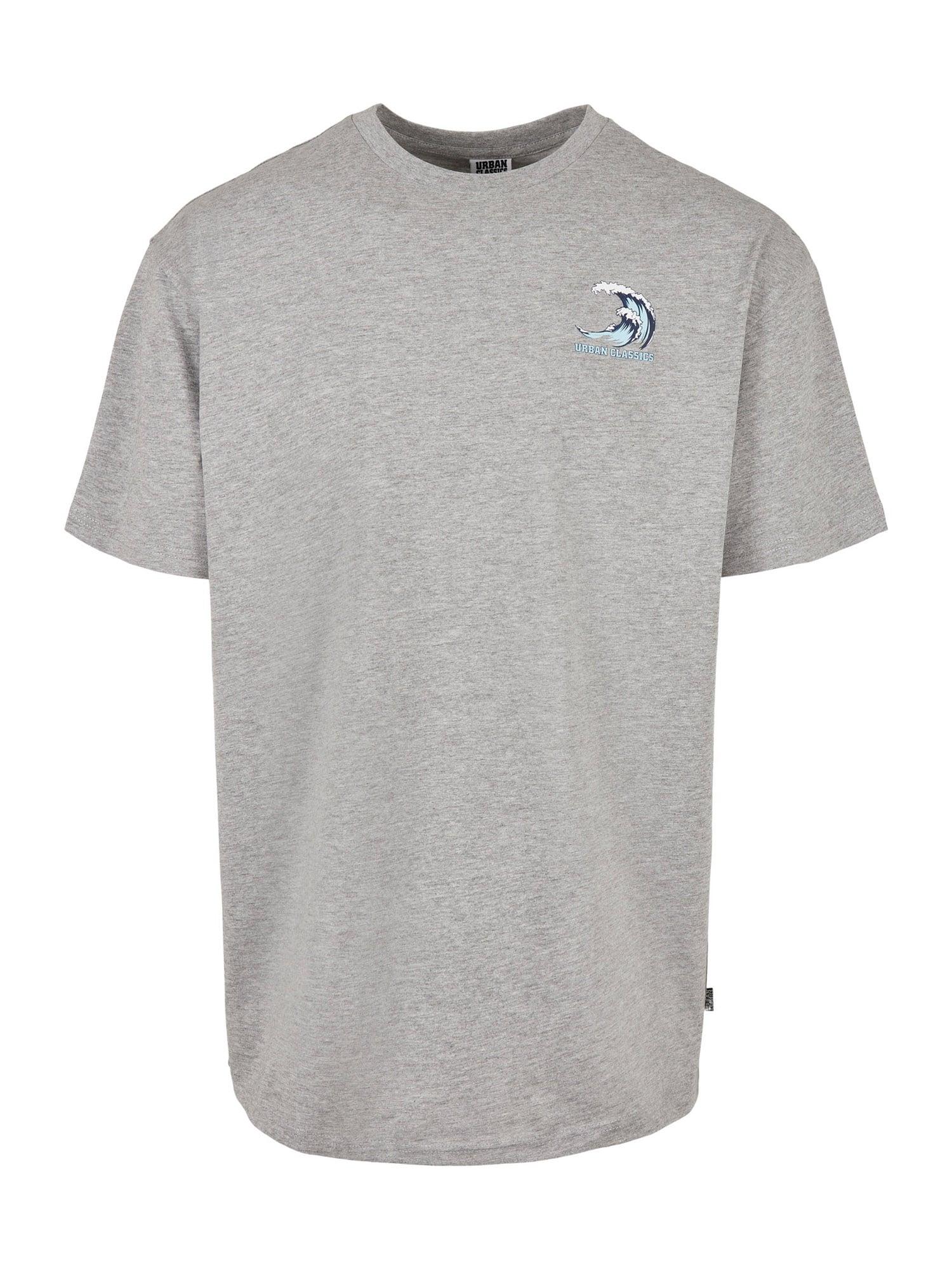 Urban Classics Big & Tall Marškinėliai margai pilka / balta / turkio spalva / tamsiai mėlyna jūros spalva
