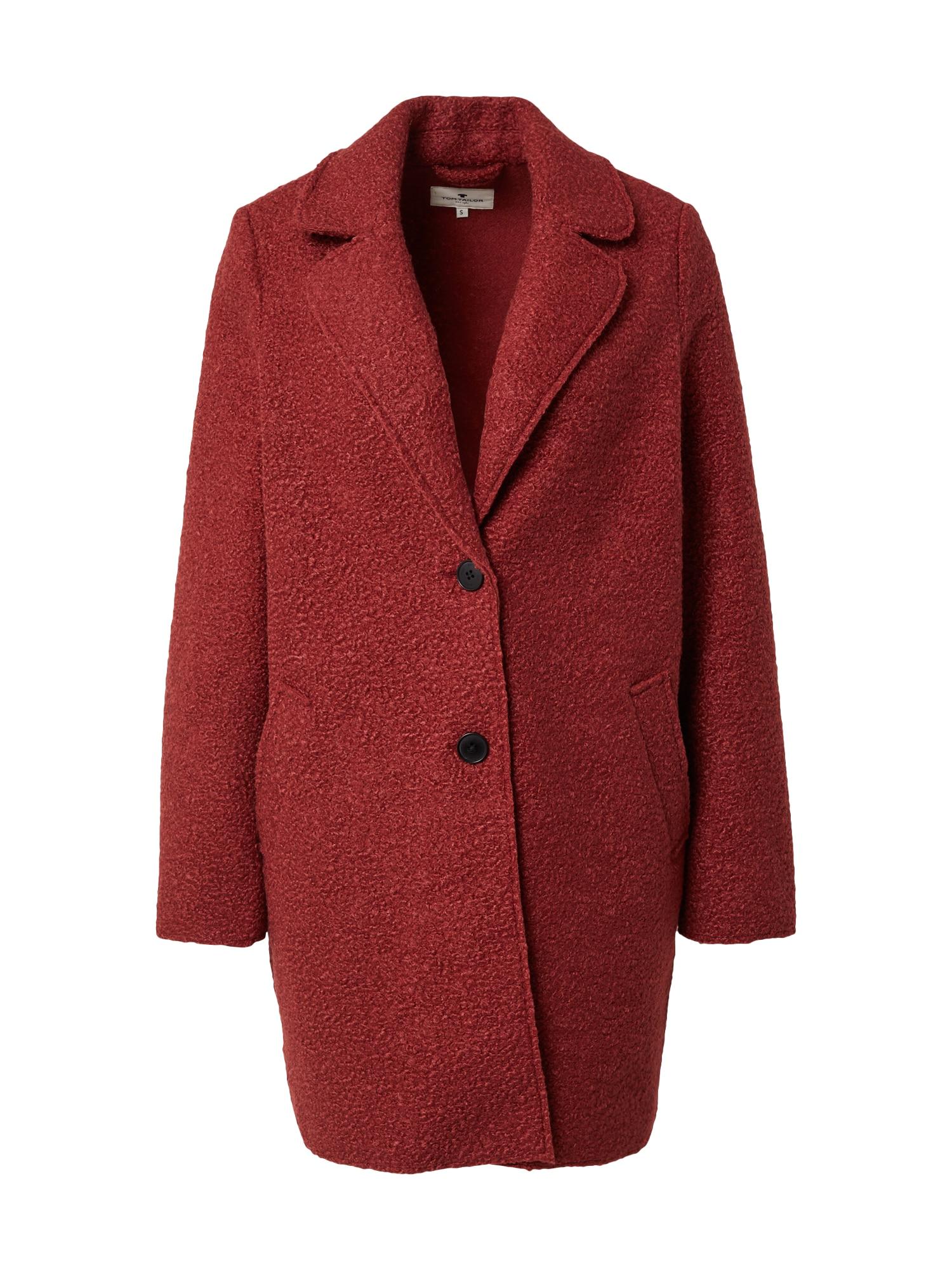 TOM TAILOR Přechodný kabát  karmínově červené