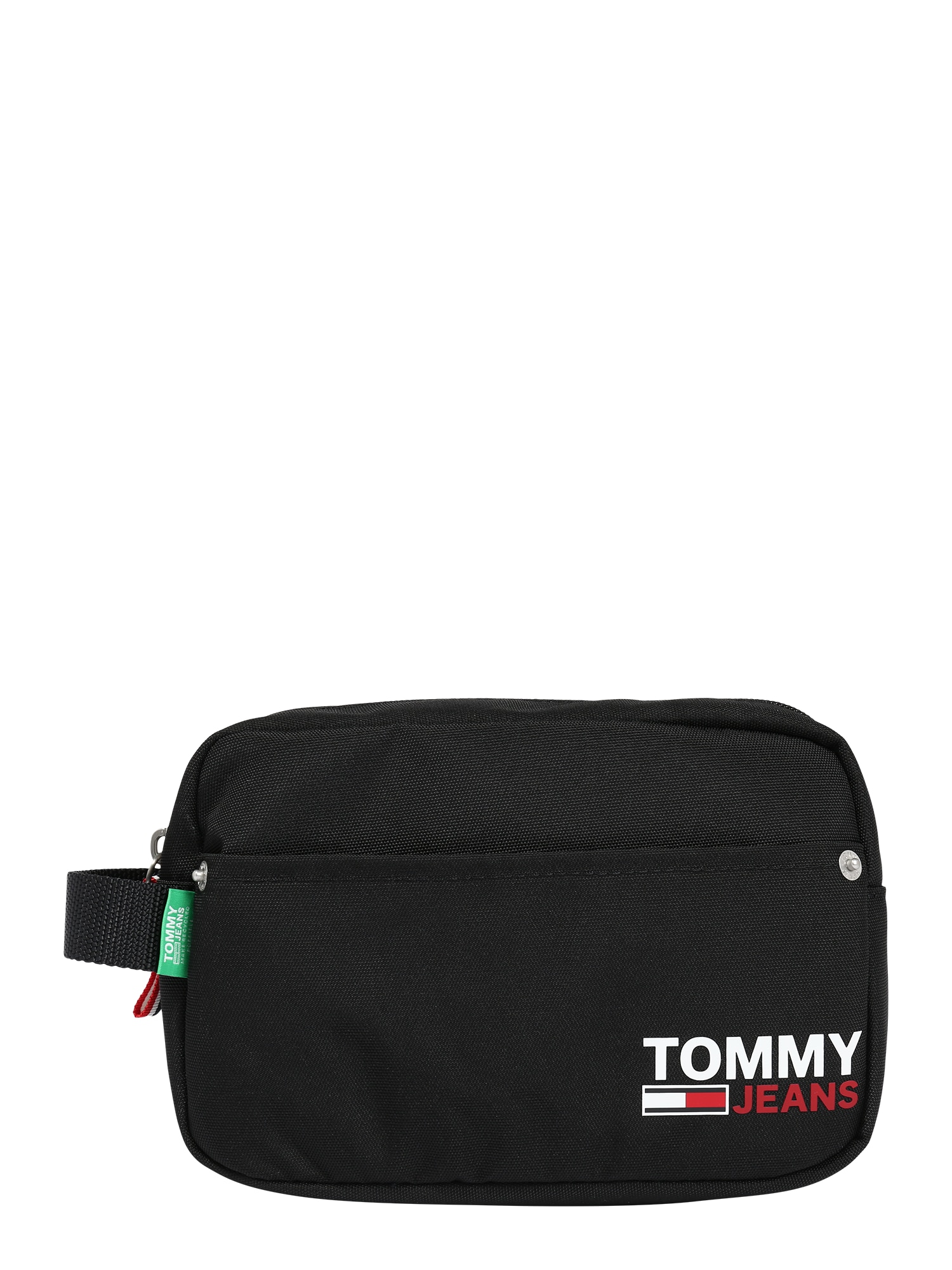 Tommy Jeans Tuoleto reikmenų krepšys juoda / balta / raudona