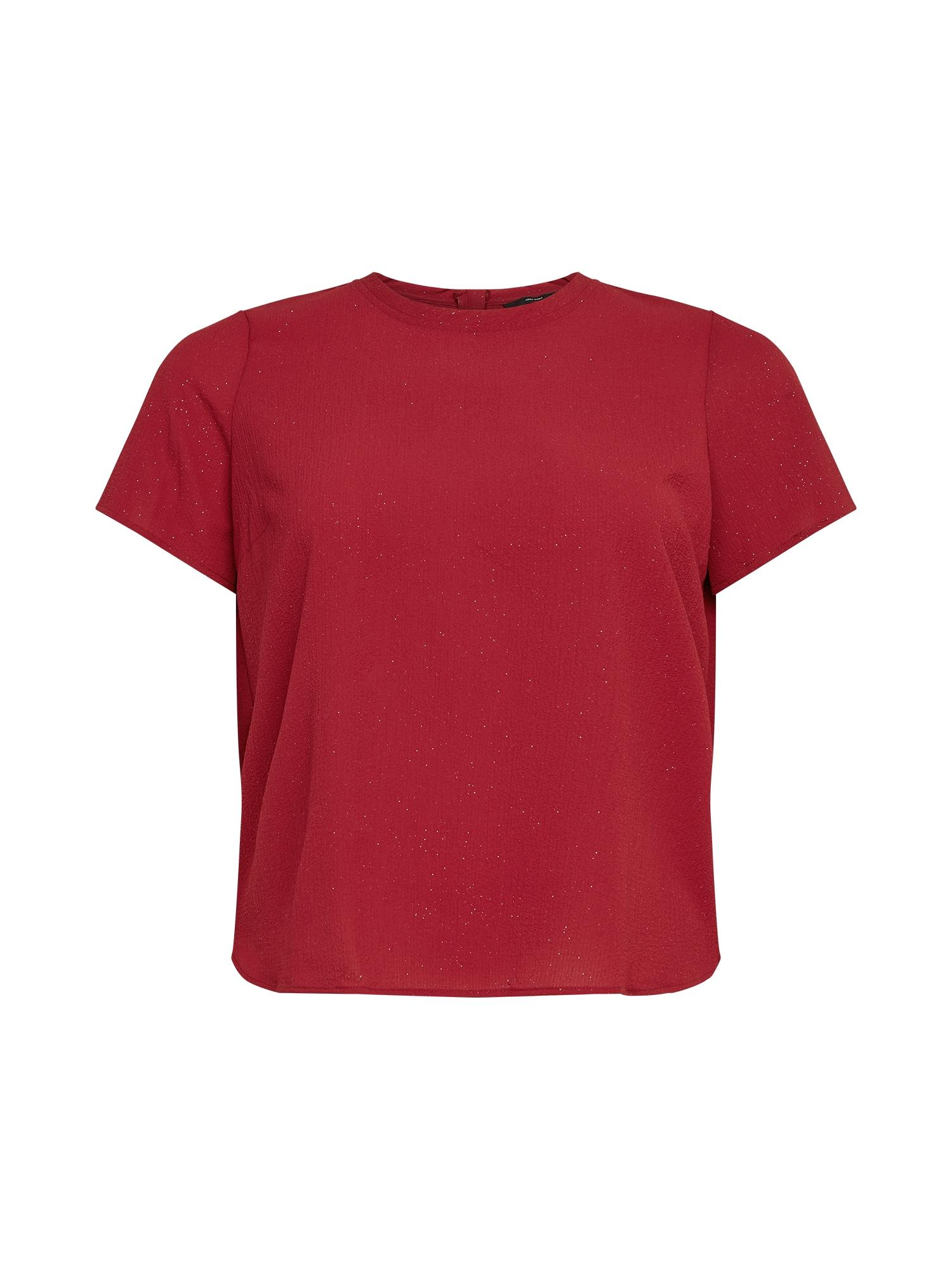 Vero Moda Curve Marškinėliai tamsiai raudona