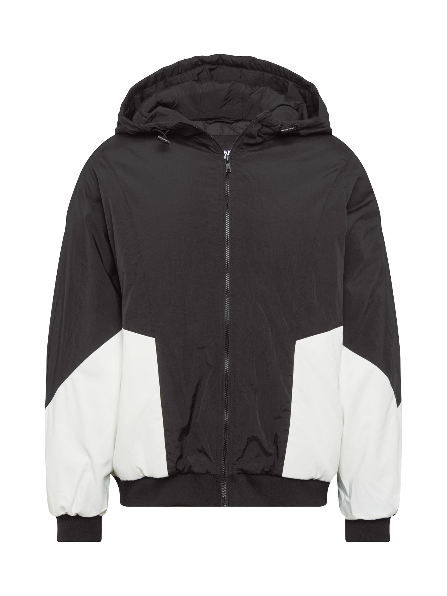 Urban Classics Curvy Přechodná bunda  bílá / černá