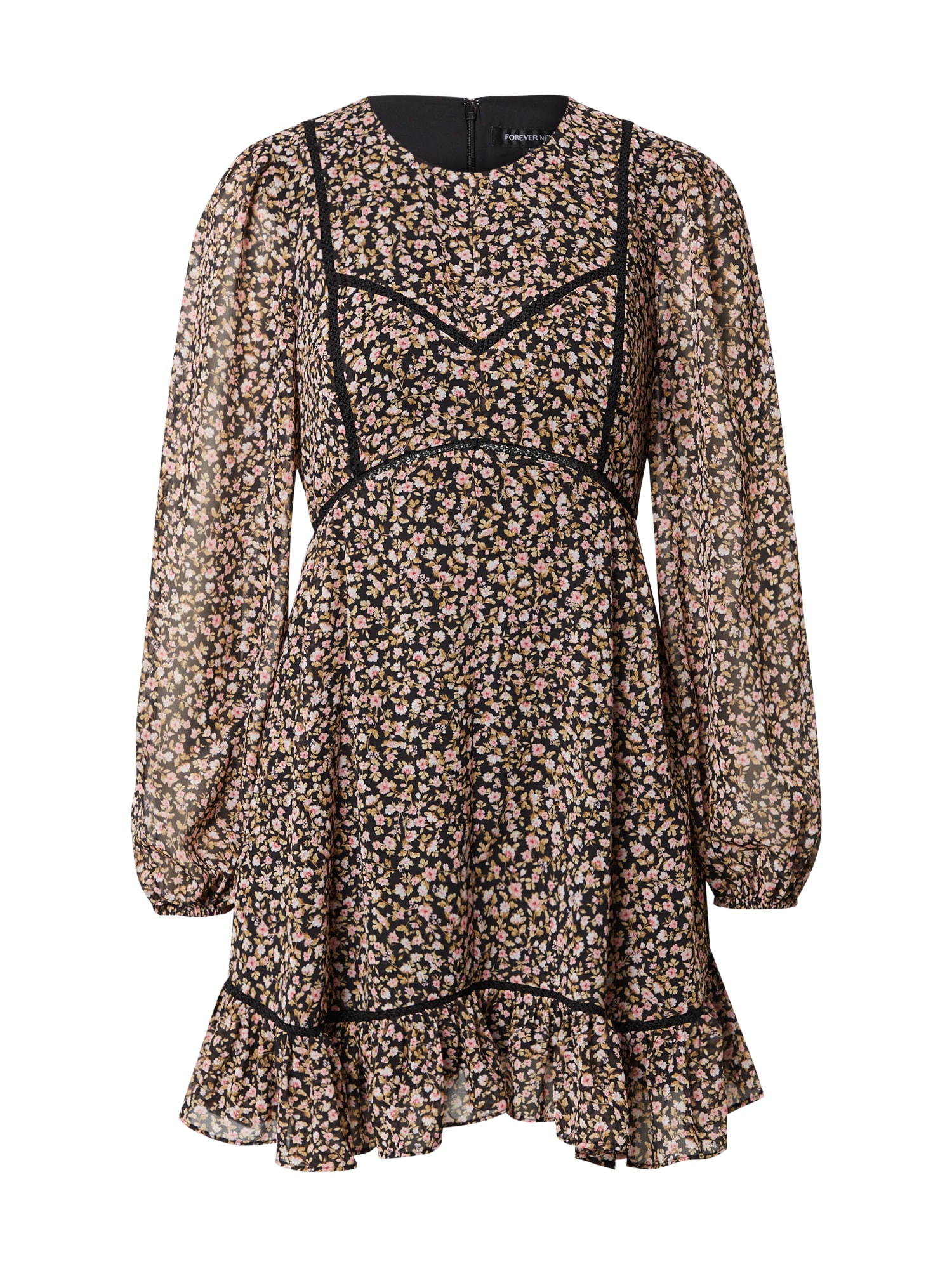 Forever New Šaty 'Donatella'  černá / mix barev