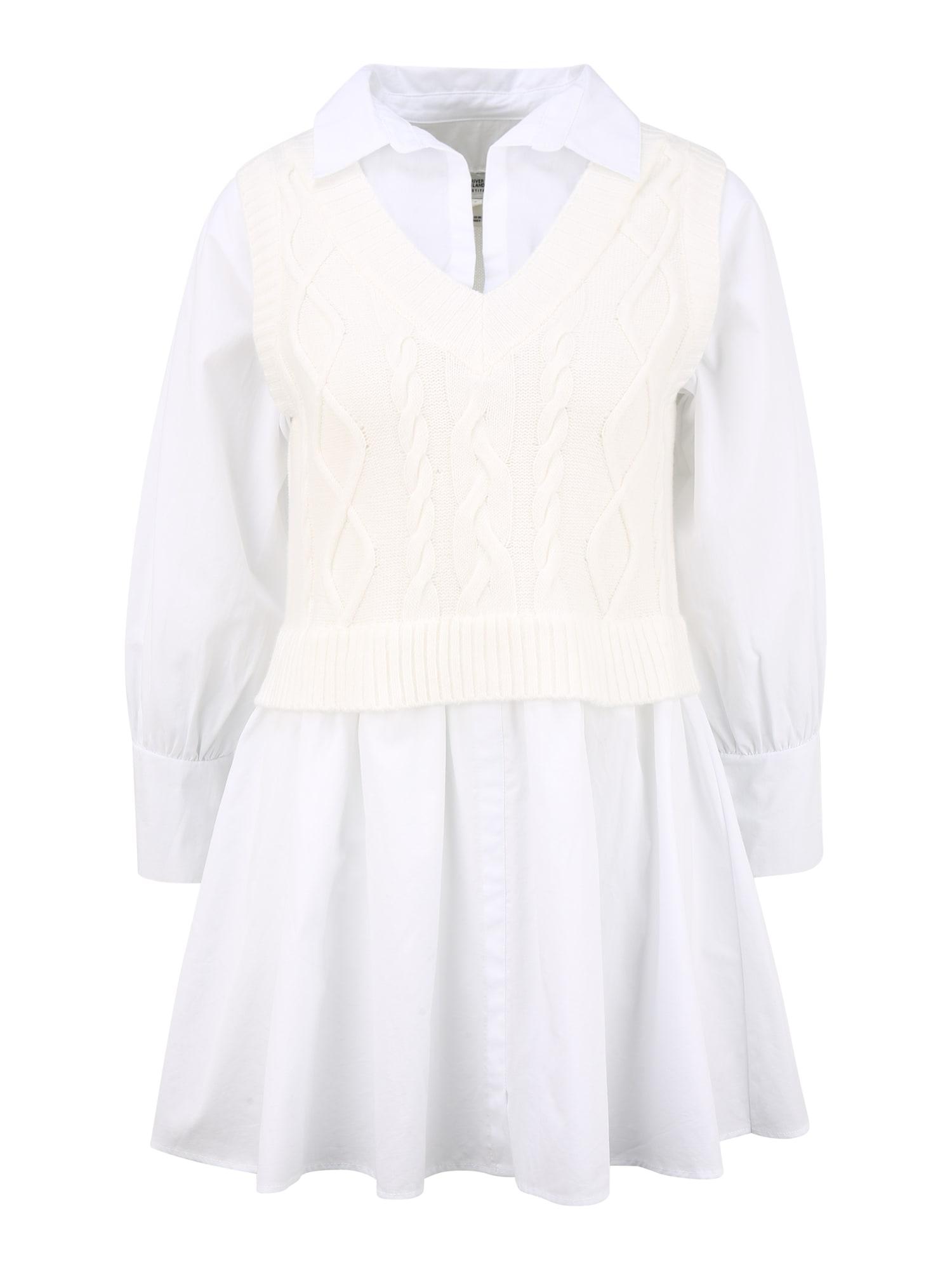 River Island Petite Palaidinės tipo suknelė kremo / balta