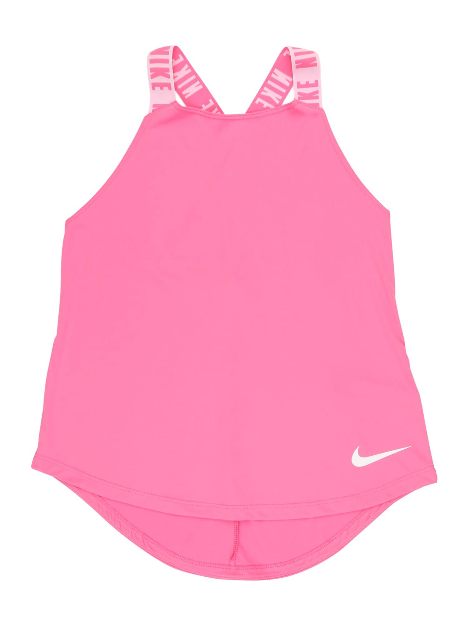 NIKE Sportovní top  bílá / pink / růžová