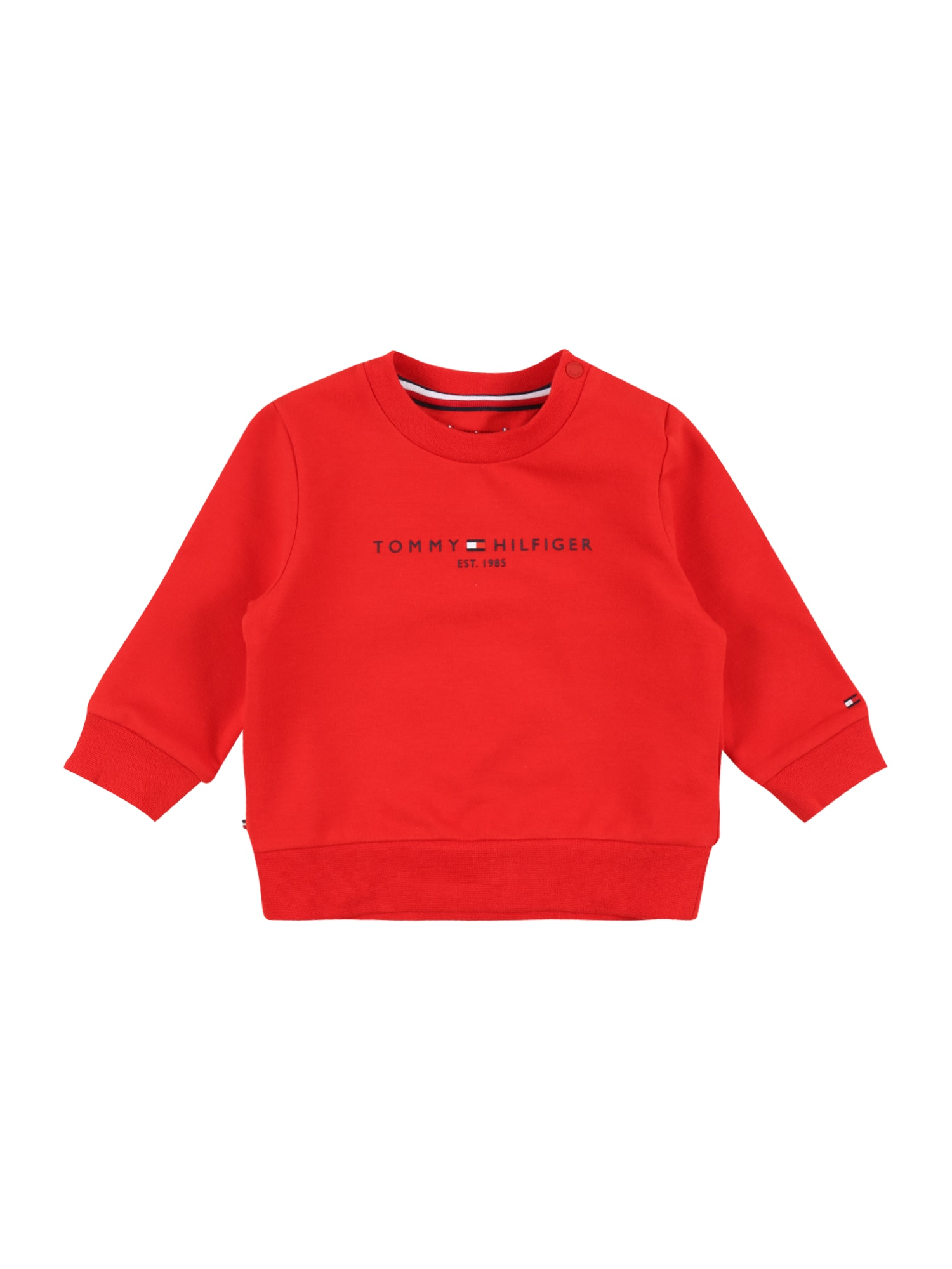 TOMMY HILFIGER Megztinis be užsegimo raudona / tamsiai mėlyna / balta