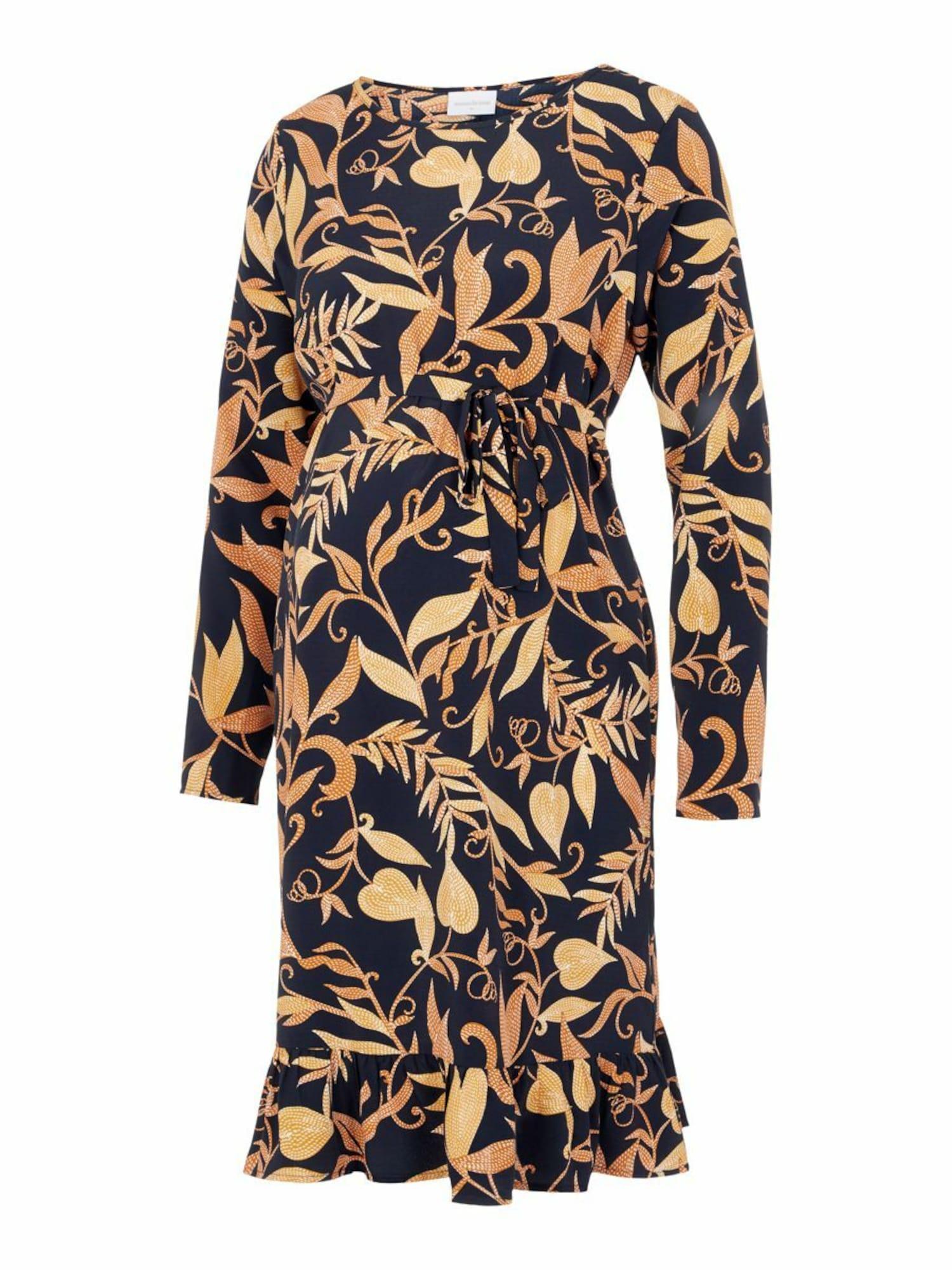 MAMALICIOUS Suknelė 'LOIRE' juoda / geltona
