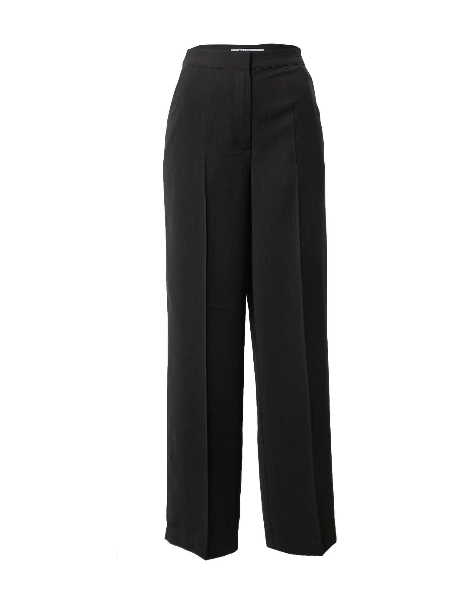 NA-KD Kelnės su kantu juoda