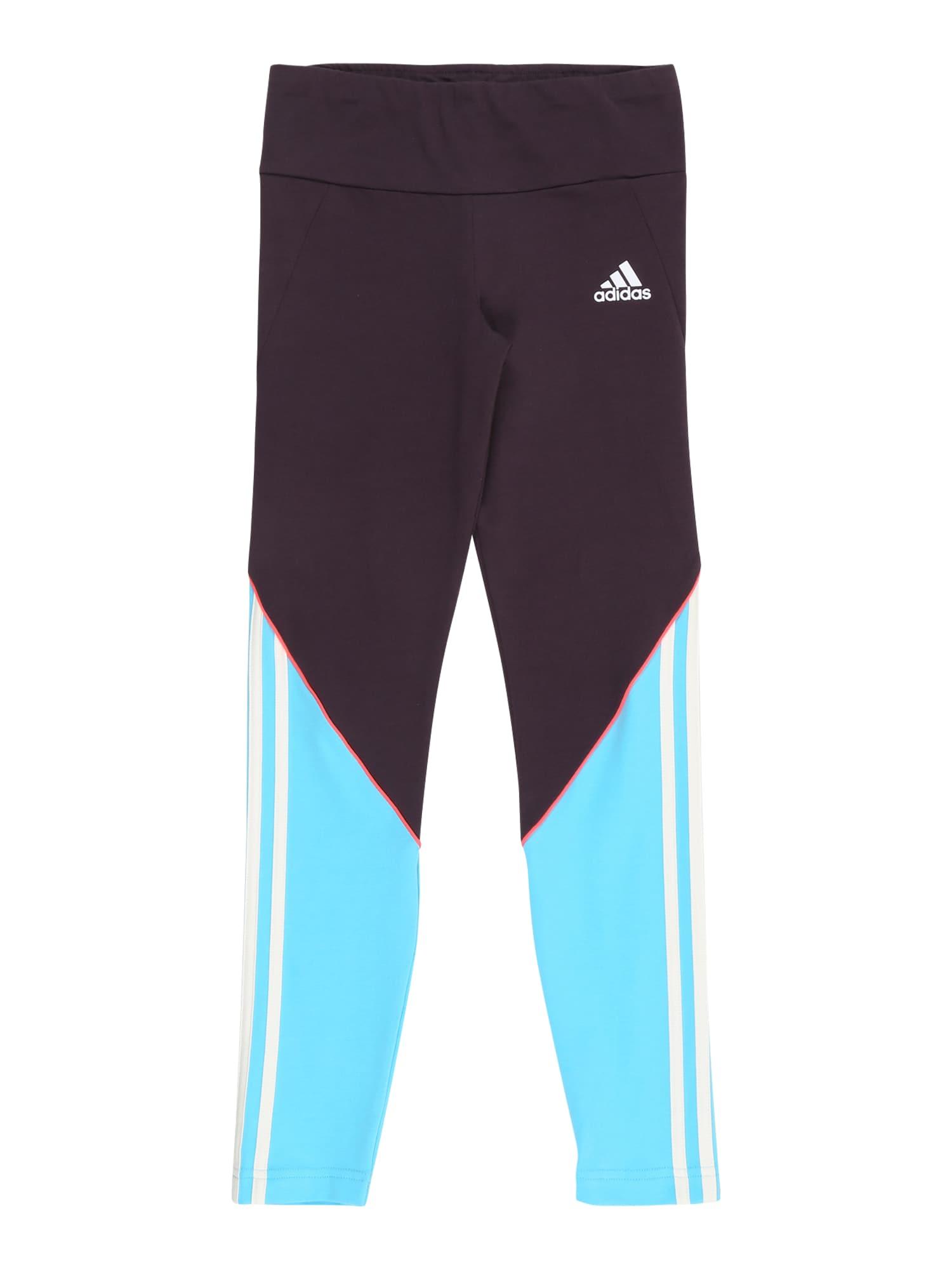 ADIDAS PERFORMANCE Sportovní kalhoty 'Bold'  tmavě fialová / světlemodrá / bílá
