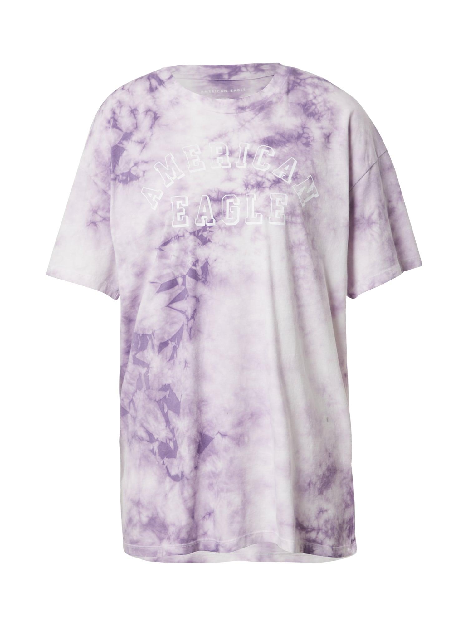 American Eagle Marškinėliai purpurinė / balta