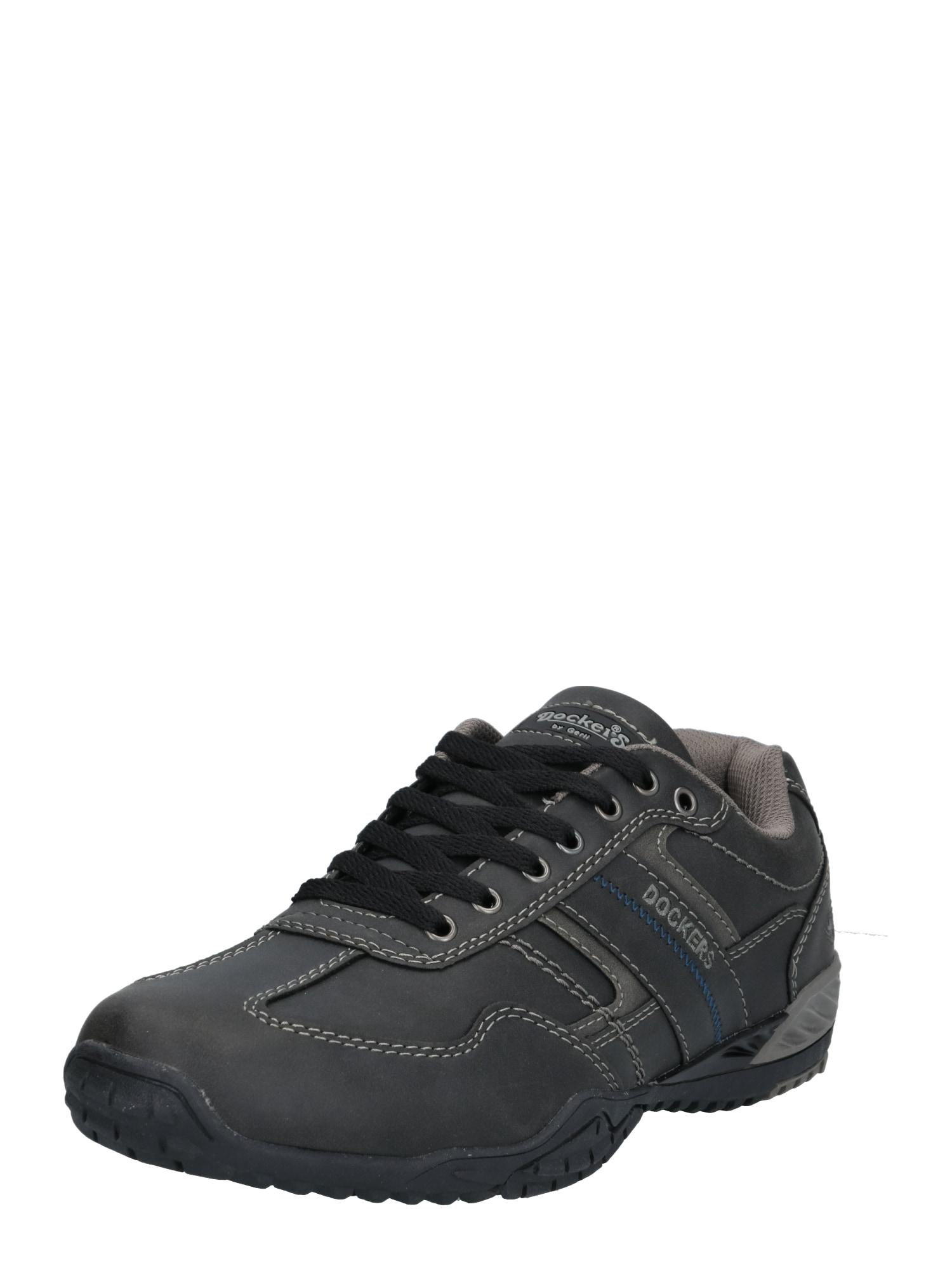 Dockers by Gerli Sportinio stiliaus batai su raišteliais tamsiai pilka