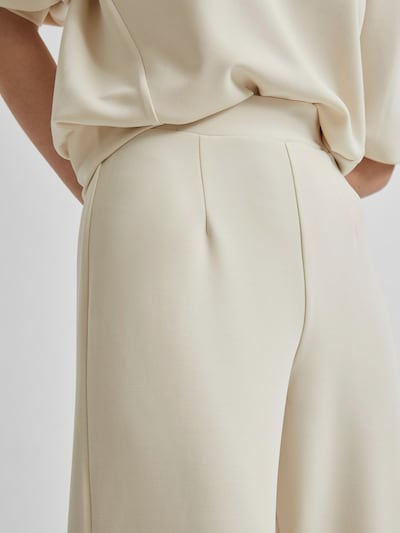 Trousers 'SLFTENNY MW CROPPED WIDE PANT B'