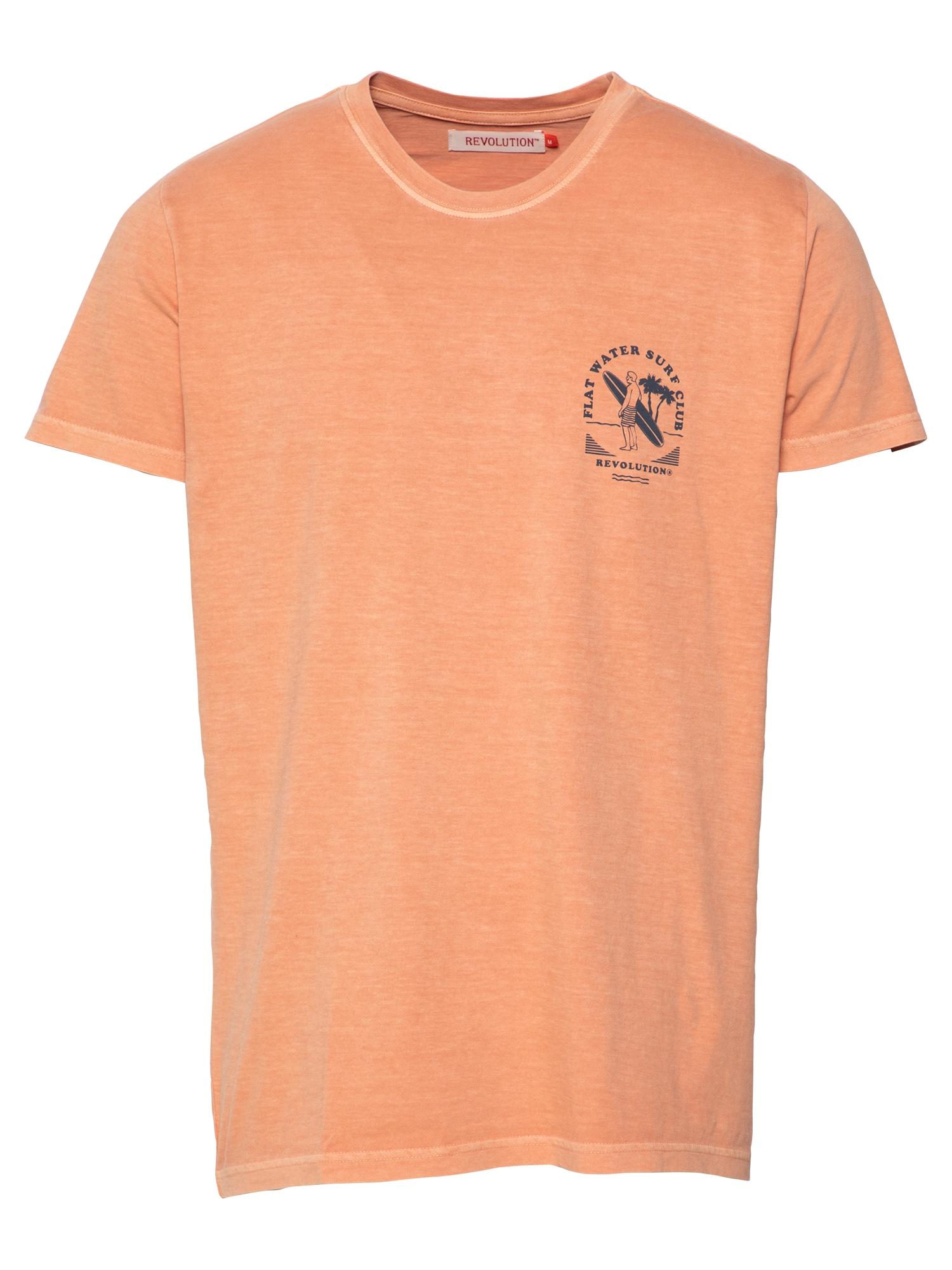 Revolution Marškinėliai mandarinų spalva / nakties mėlyna