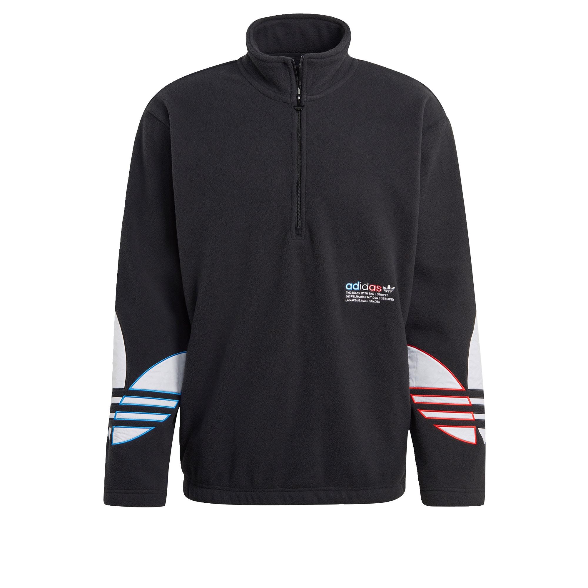 ADIDAS ORIGINALS Megztinis be užsegimo juoda / balta / mėlyna / raudona