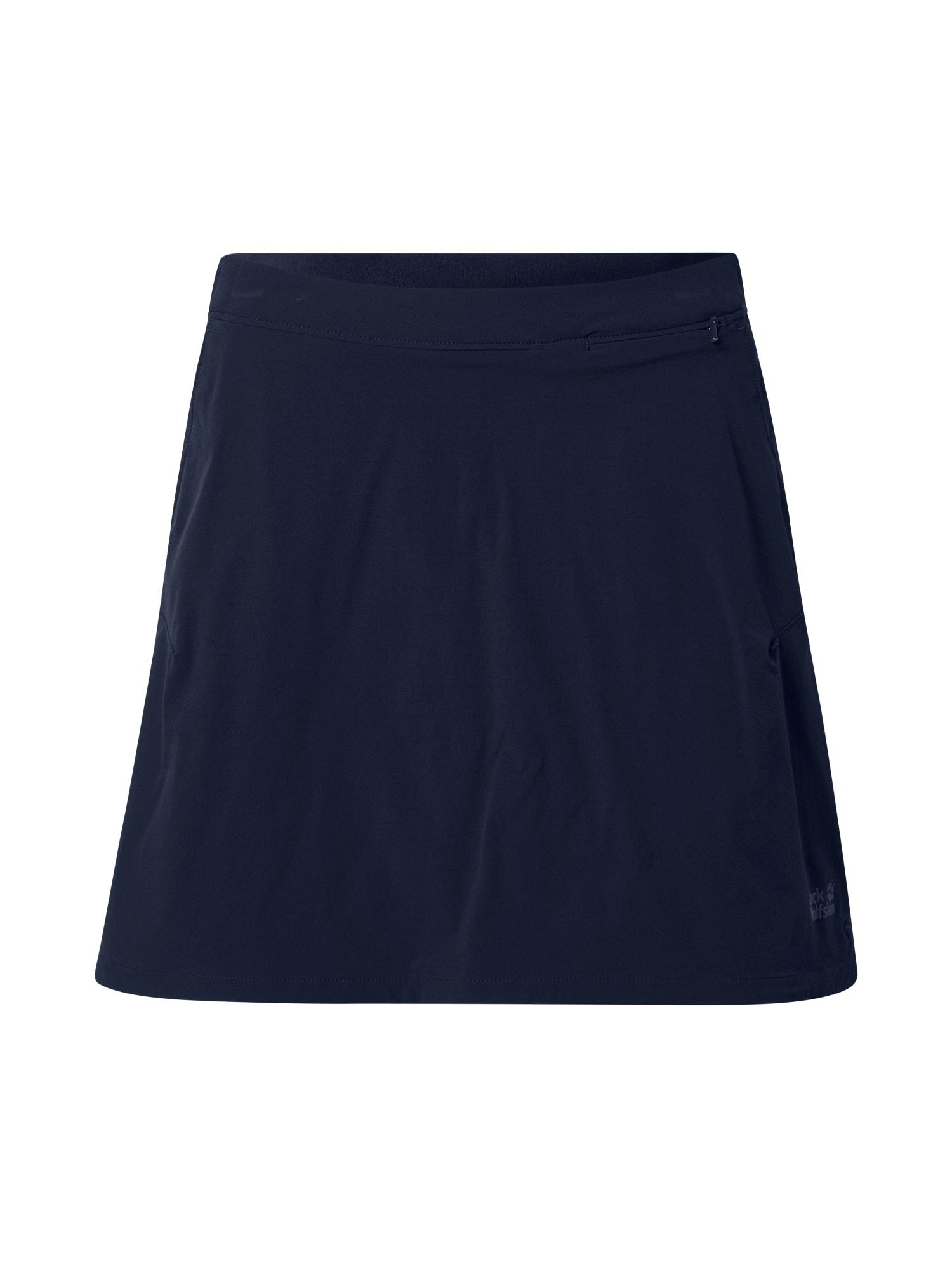 JACK WOLFSKIN Sportinio stiliaus sijonas nakties mėlyna