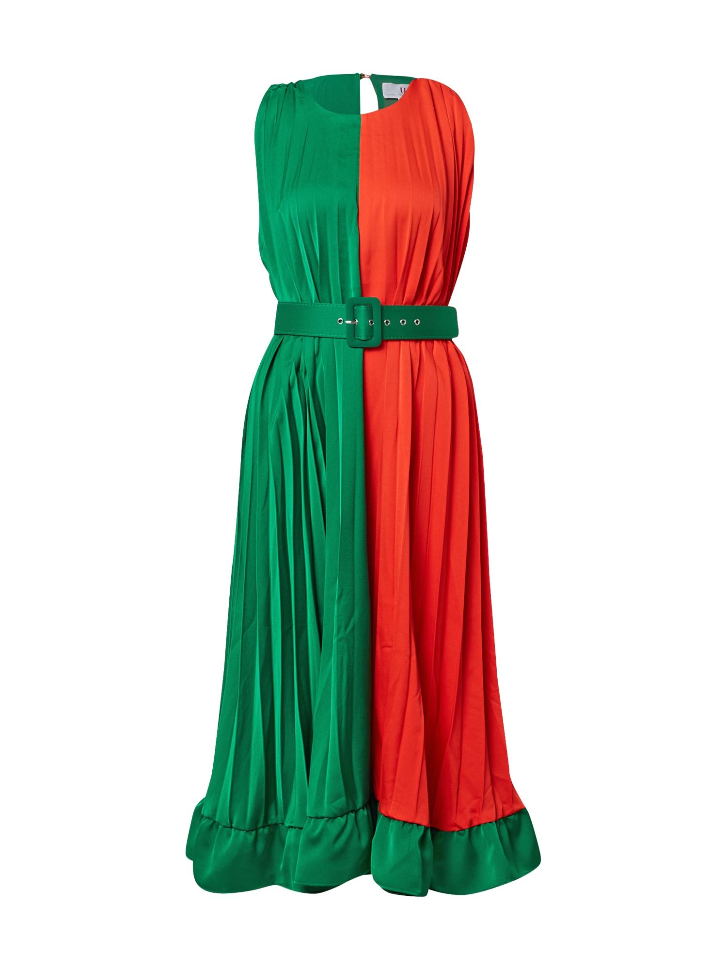 Forever Unique Suknelė žalia / raudona