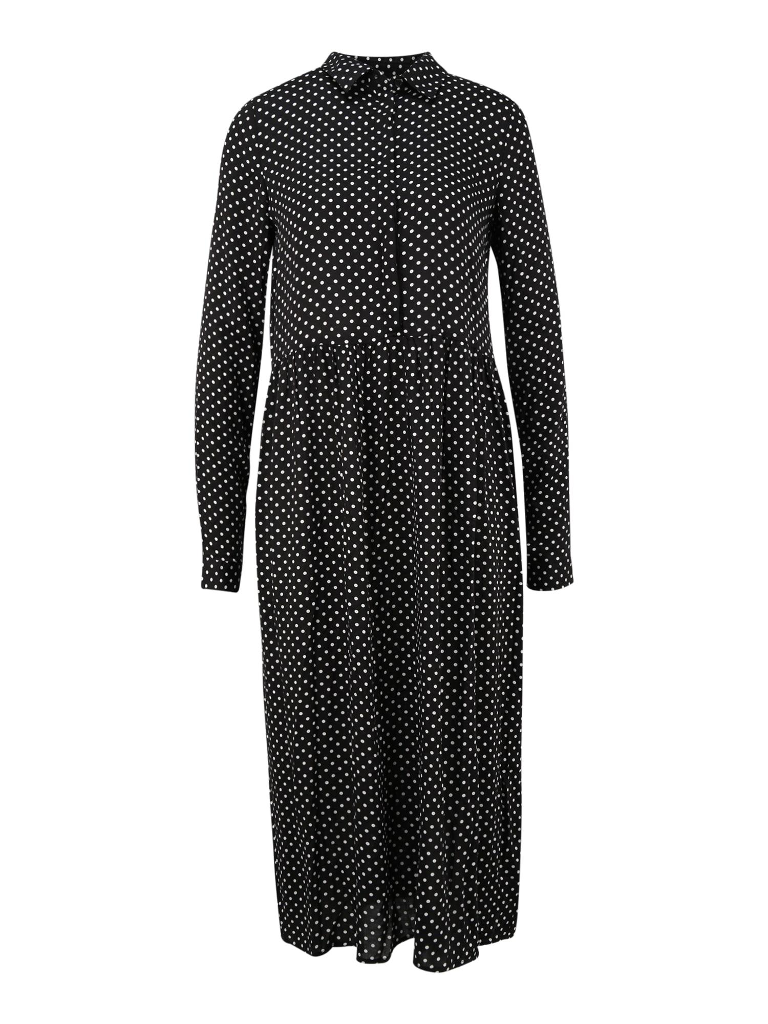 Vero Moda Tall Palaidinės tipo suknelė juoda / balta