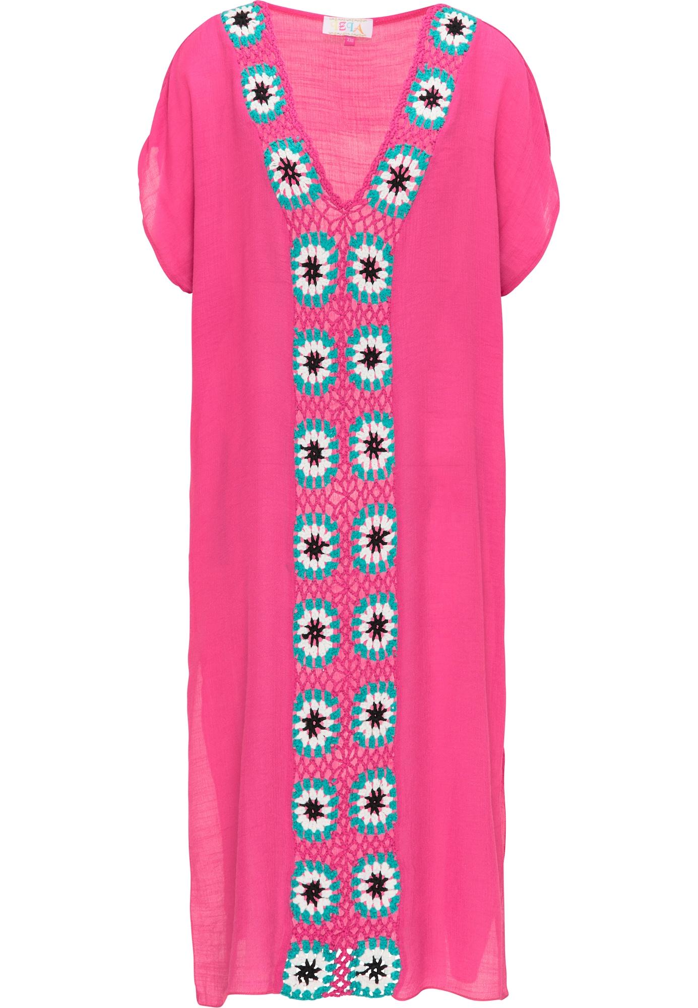 IZIA Paplūdimio suknelė rožinė / mėlyna / balta / juoda