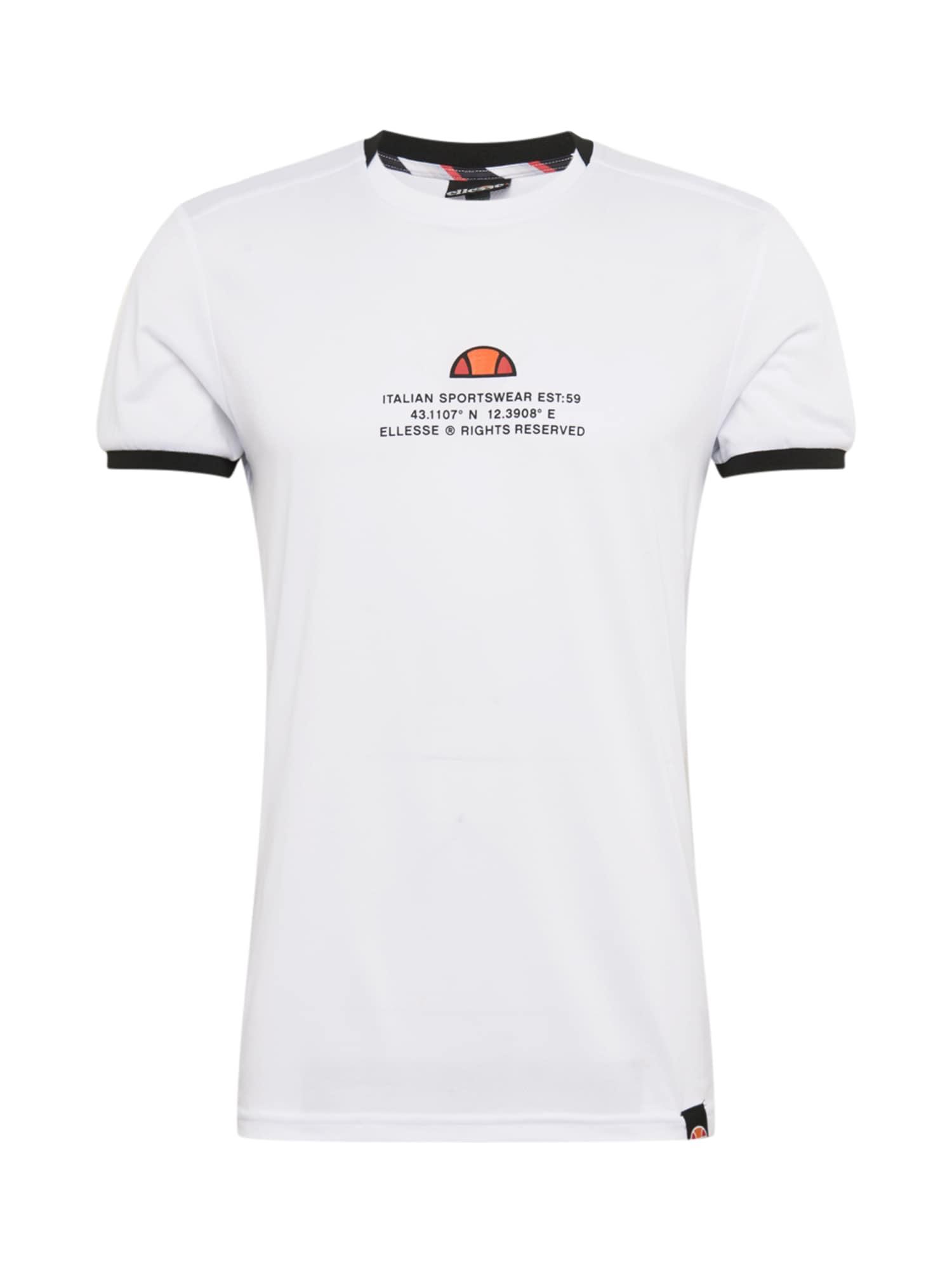 ELLESSE Sportiniai marškinėliai balta / mišrios spalvos