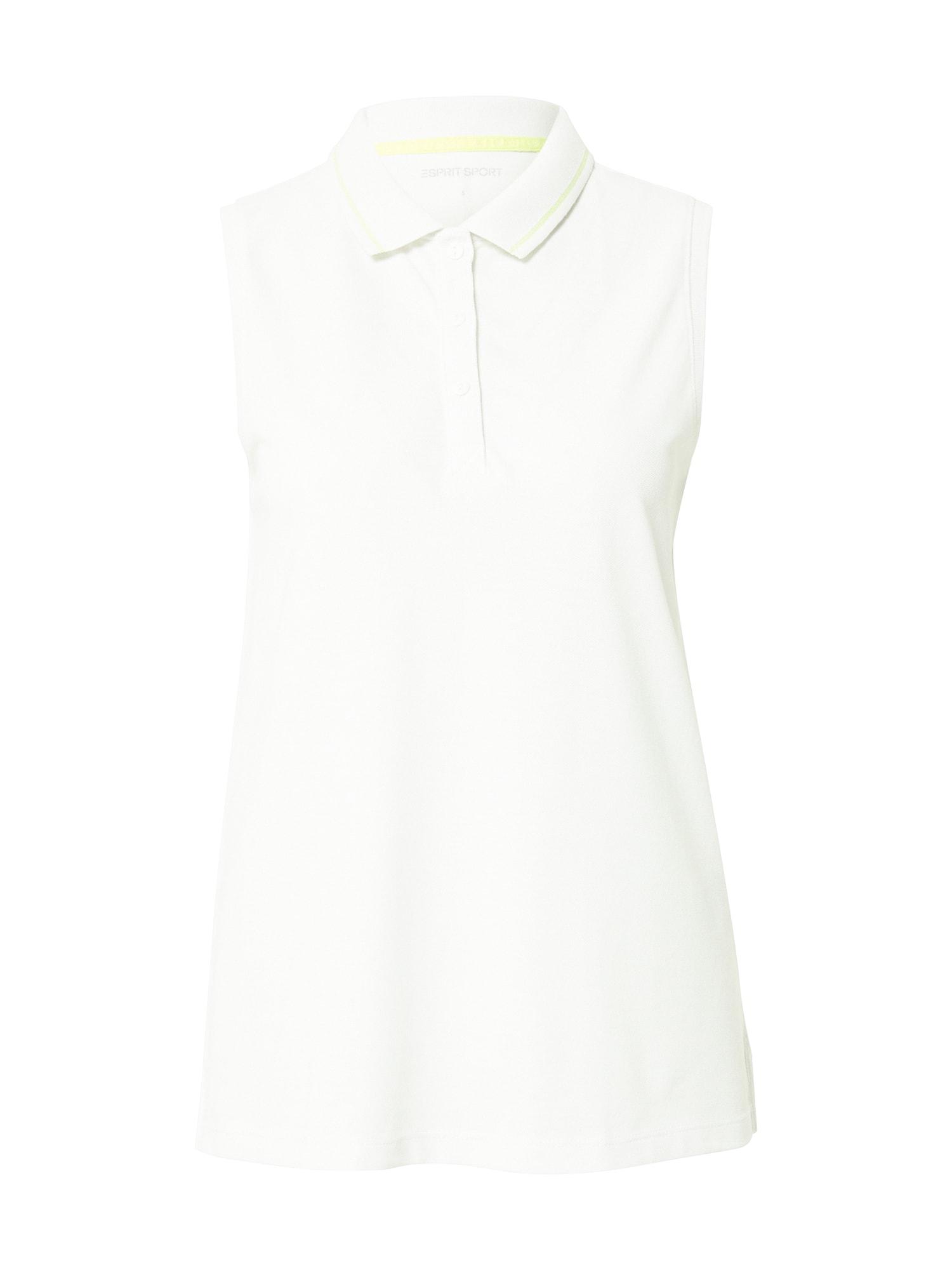 ESPRIT SPORT Sportiniai marškinėliai be rankovių balta / mėtų spalva