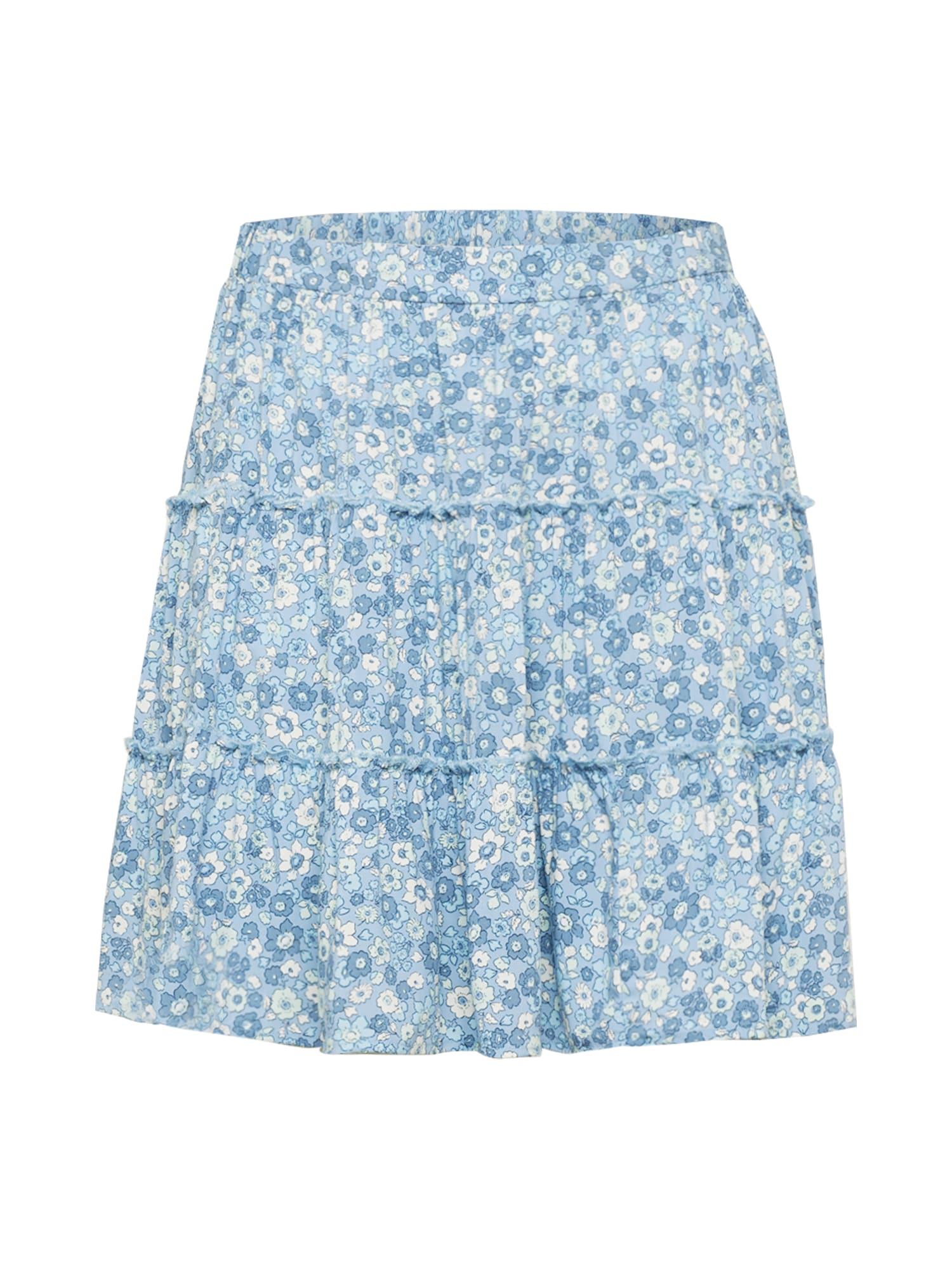 Cotton On Curve Sijonas mėlyna / šviesiai mėlyna / balta