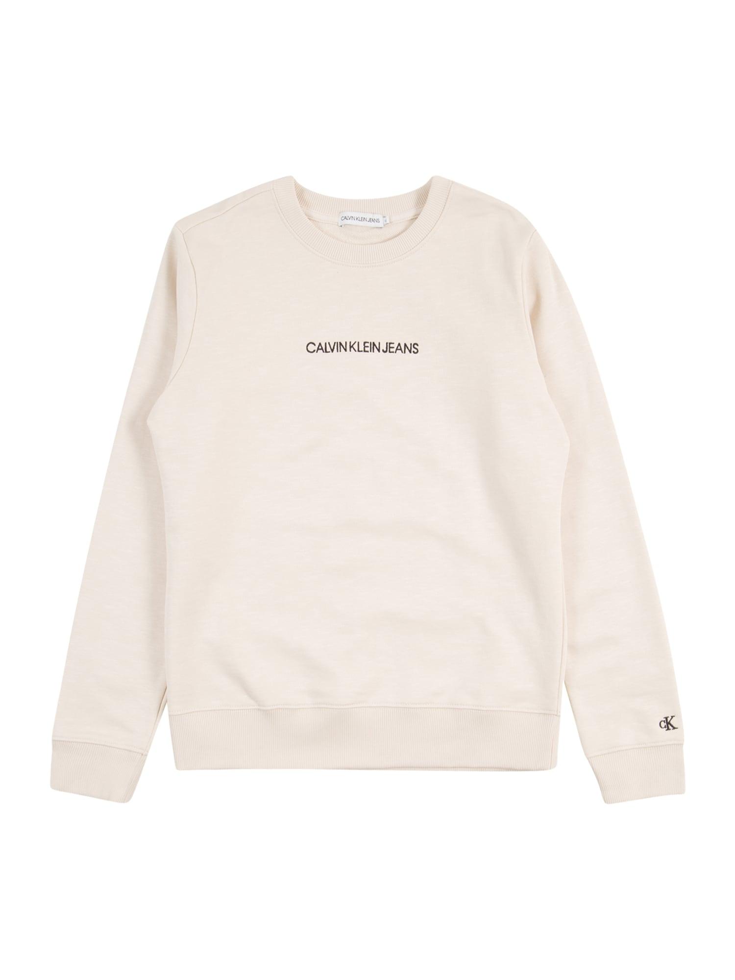Calvin Klein Jeans Megztinis be užsegimo smėlio / juoda