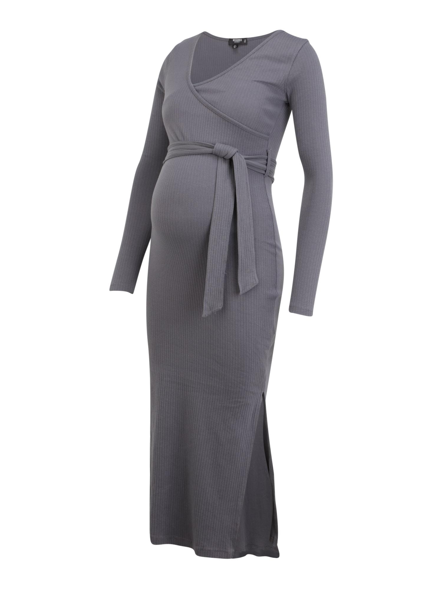 Missguided Maternity Suknelė tamsiai pilka
