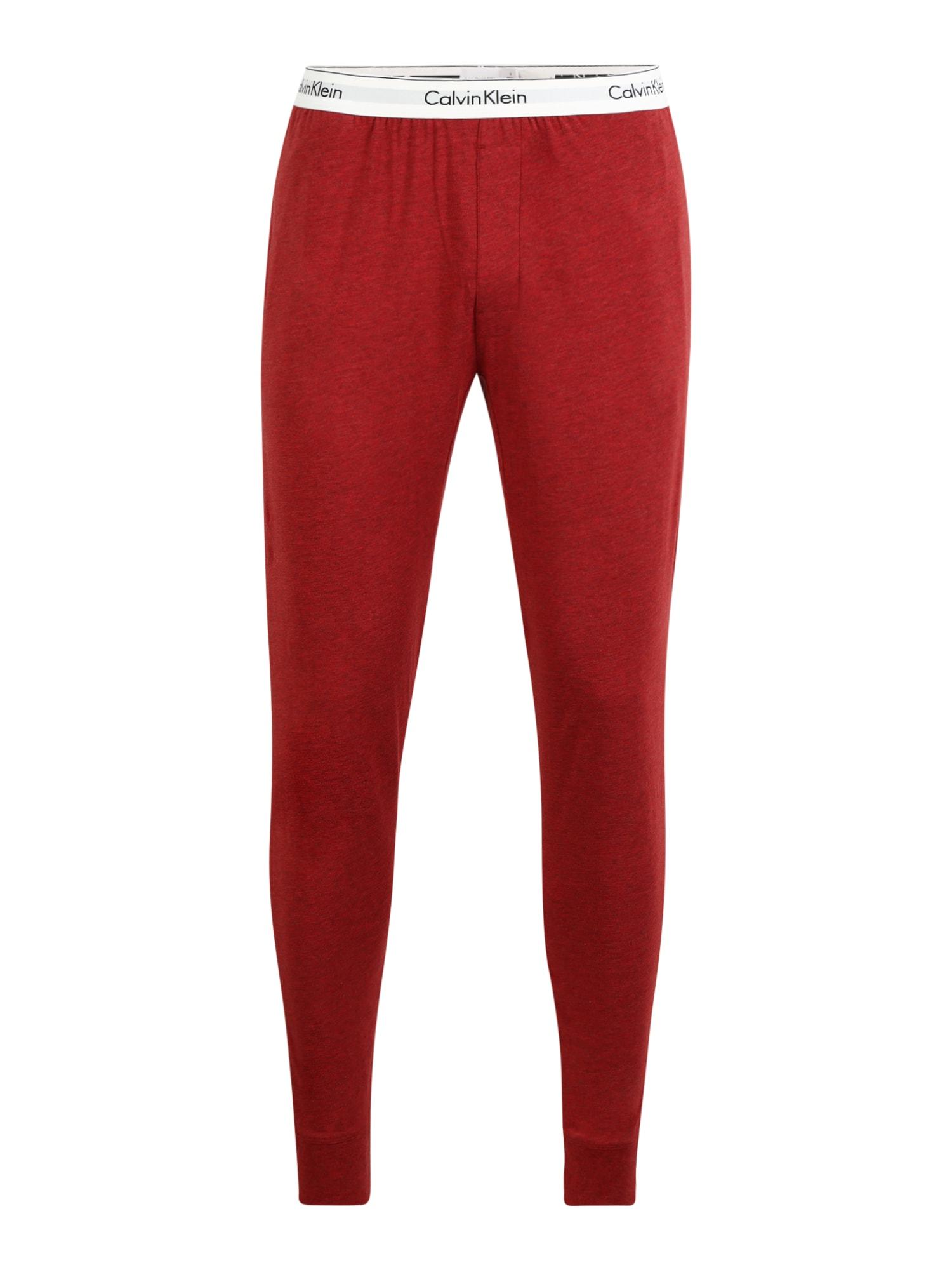 Calvin Klein Underwear Pižaminės kelnės raudona / balta / juoda