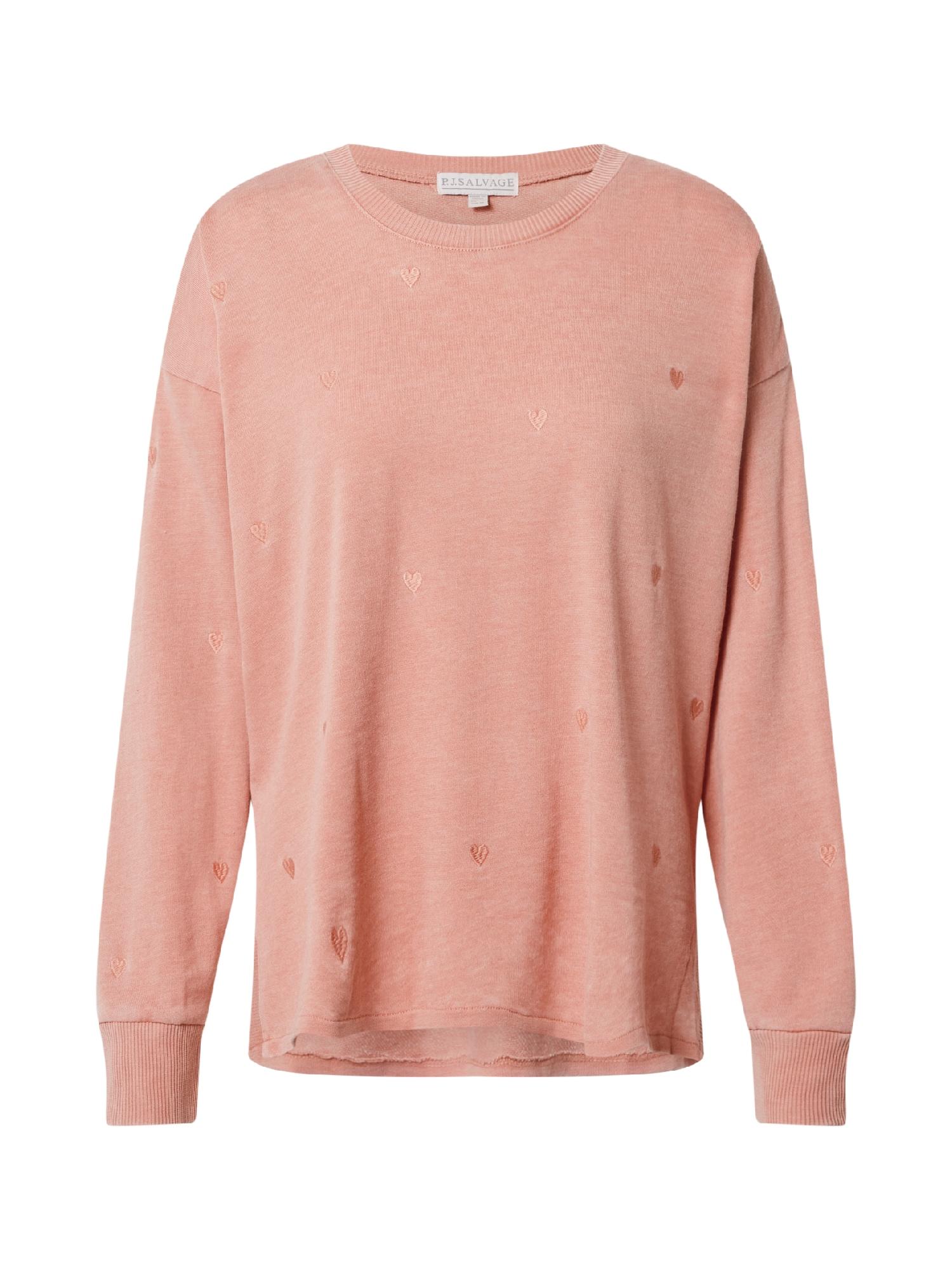 PJ Salvage Pižaminiai marškinėliai ryškiai rožinė spalva