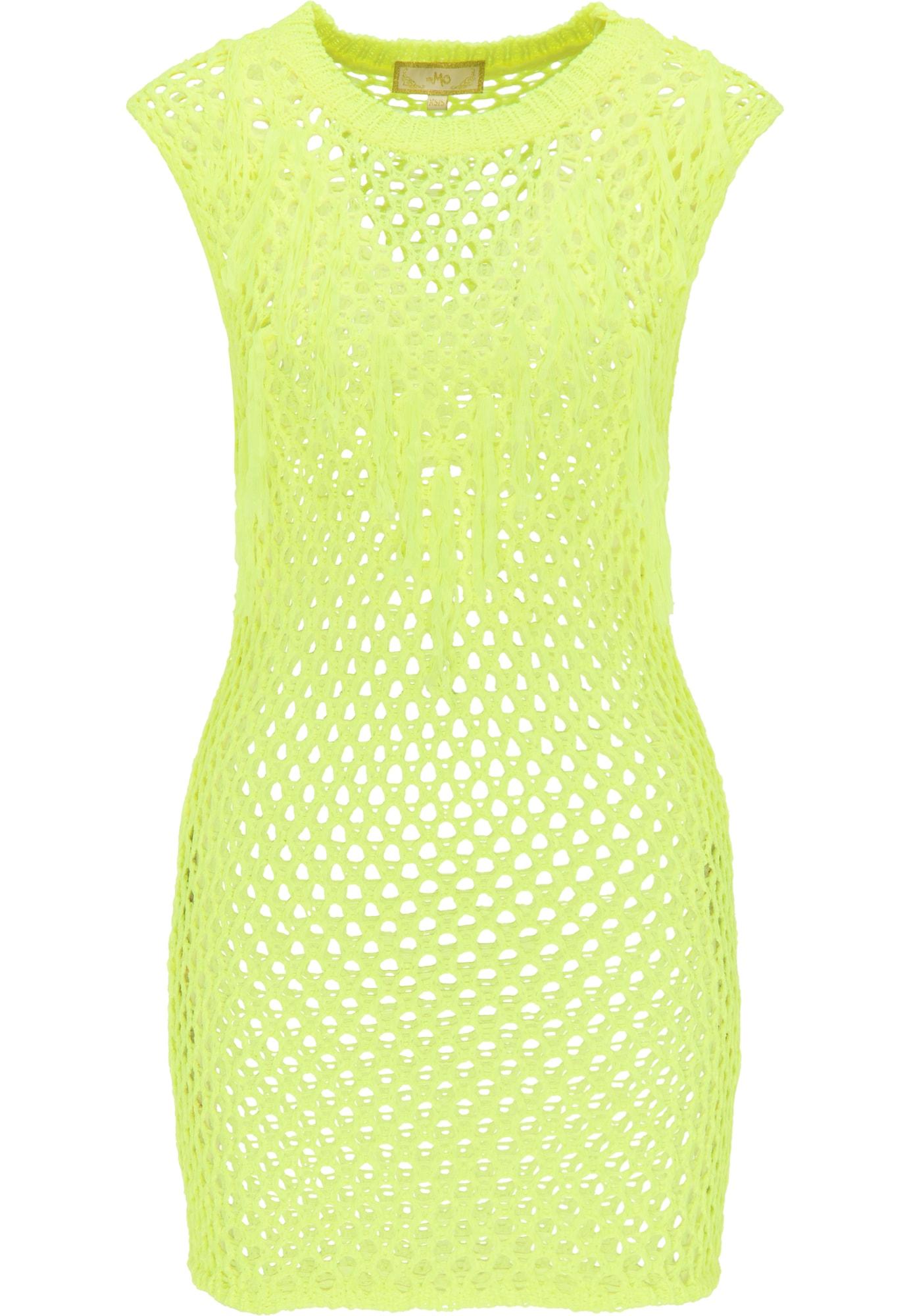 MYMO Paplūdimio suknelė neoninė geltona