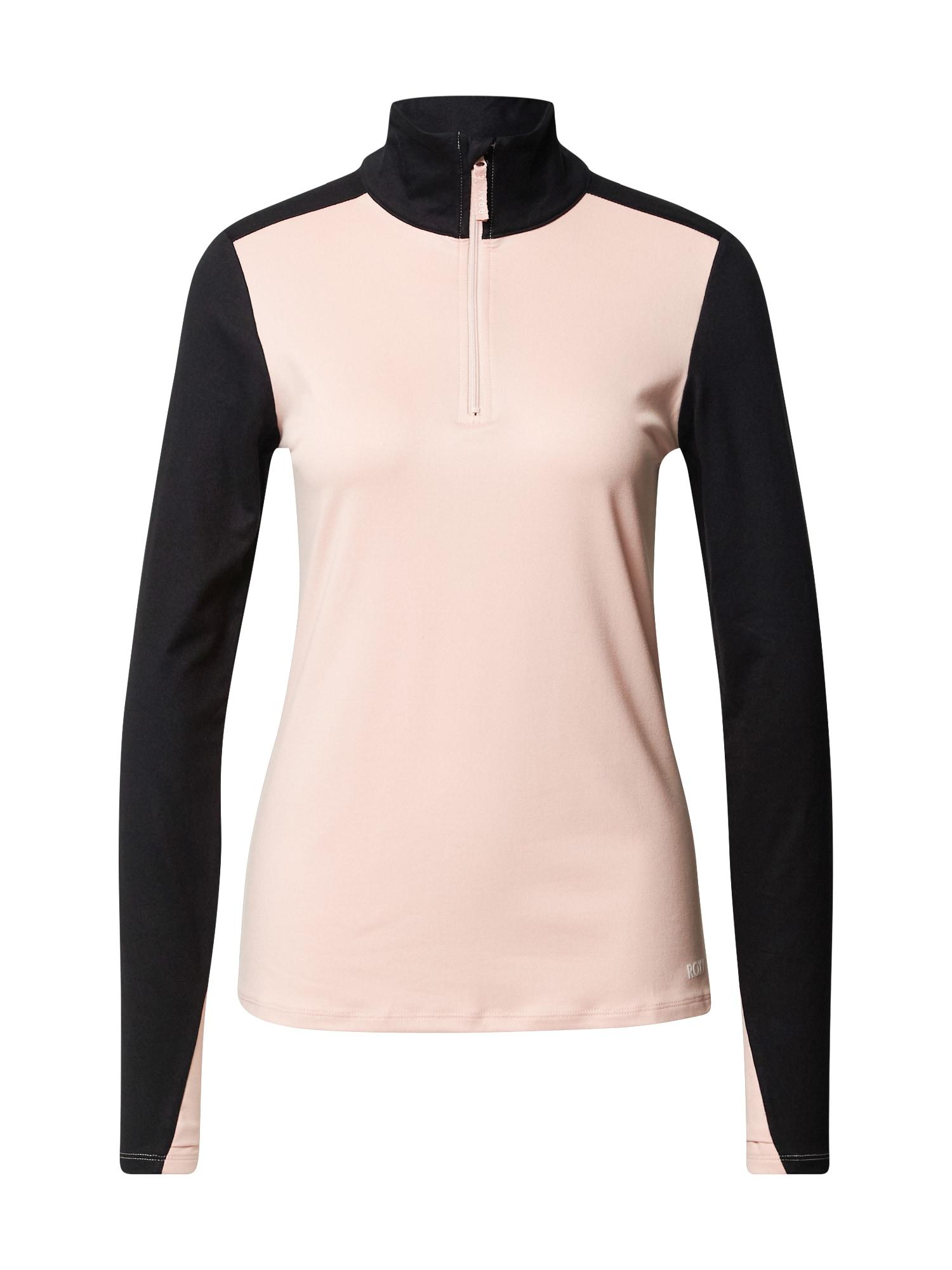 ROXY Sportinio tipo megztinis ryškiai rožinė spalva / juoda