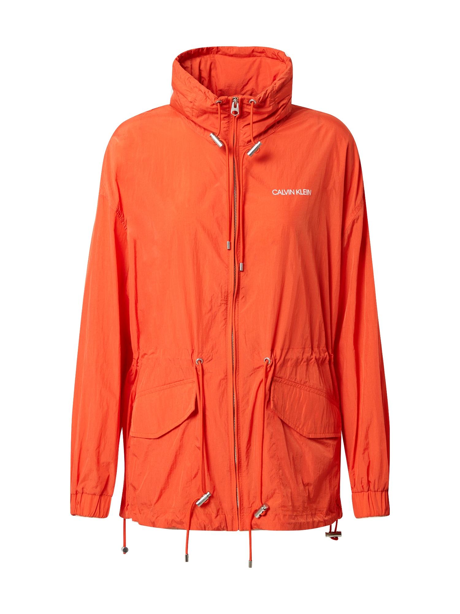 Calvin Klein Demisezoninė striukė oranžinė