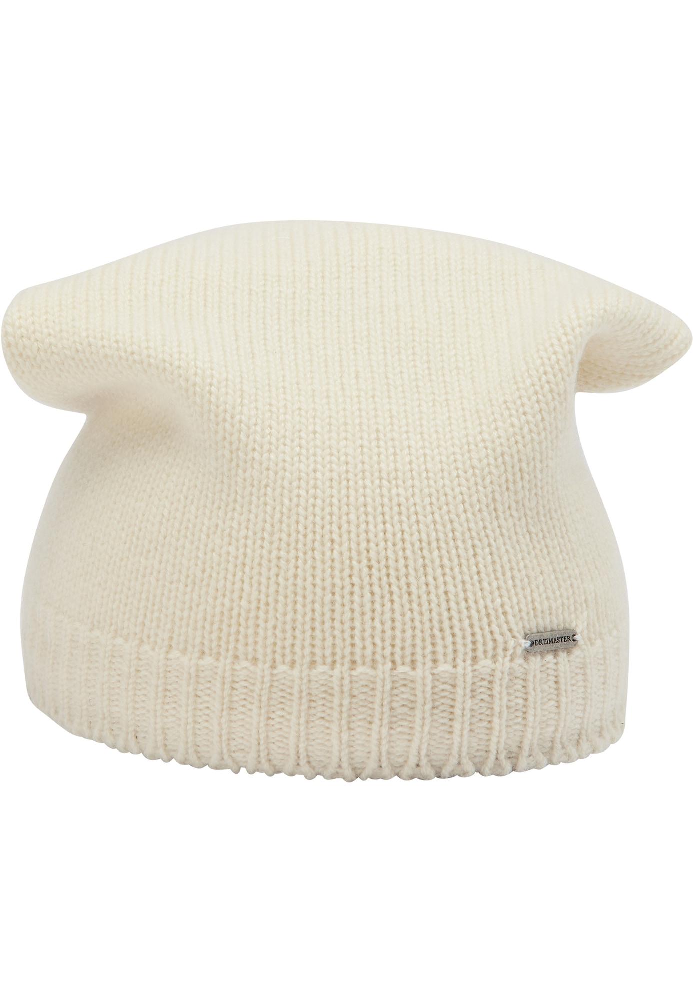DreiMaster PREMIUM Megzta kepurė balkšva