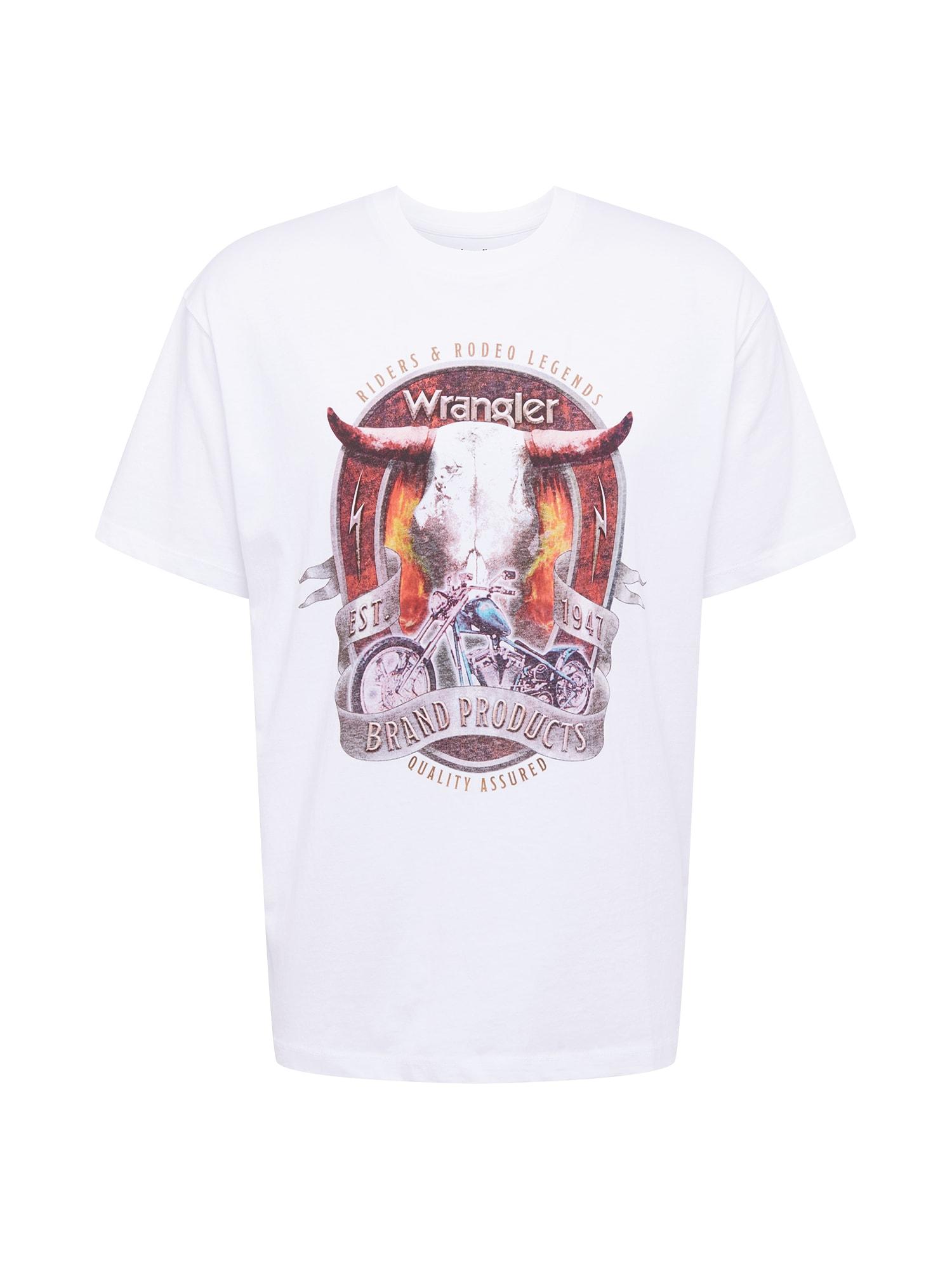 WRANGLER Marškinėliai balta / mišrios spalvos