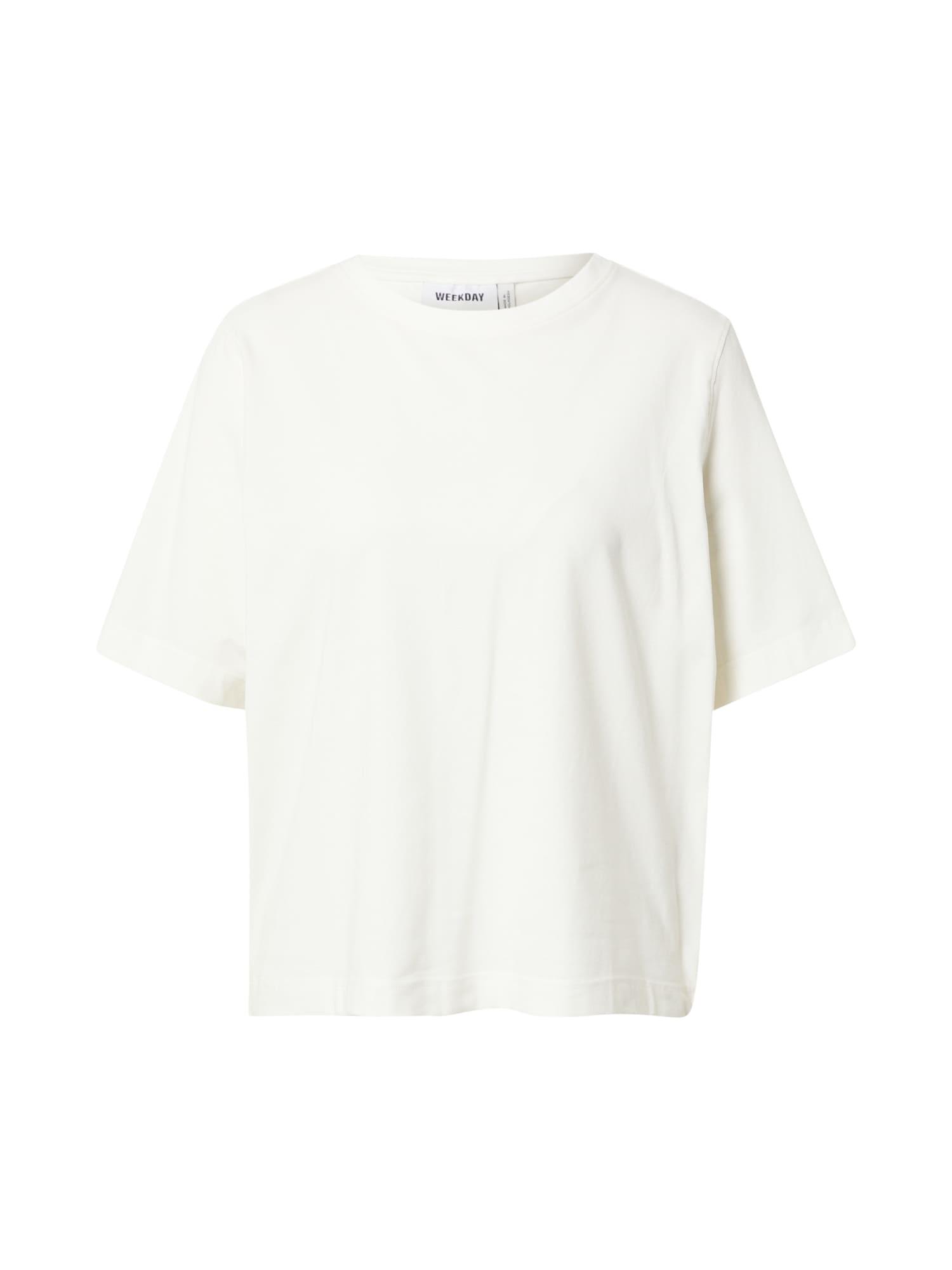 WEEKDAY Tričko  bílá